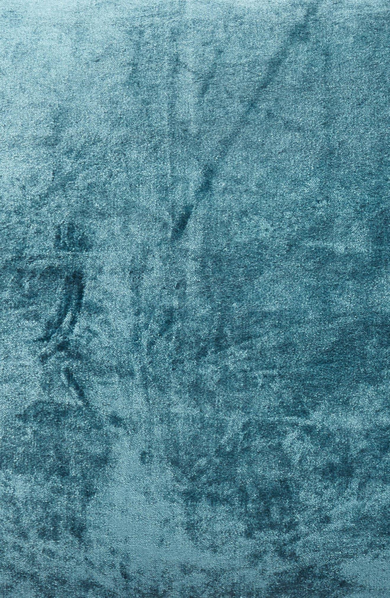 Shimmer Velvet Sham,                             Alternate thumbnail 3, color,                             TEAL GAZER