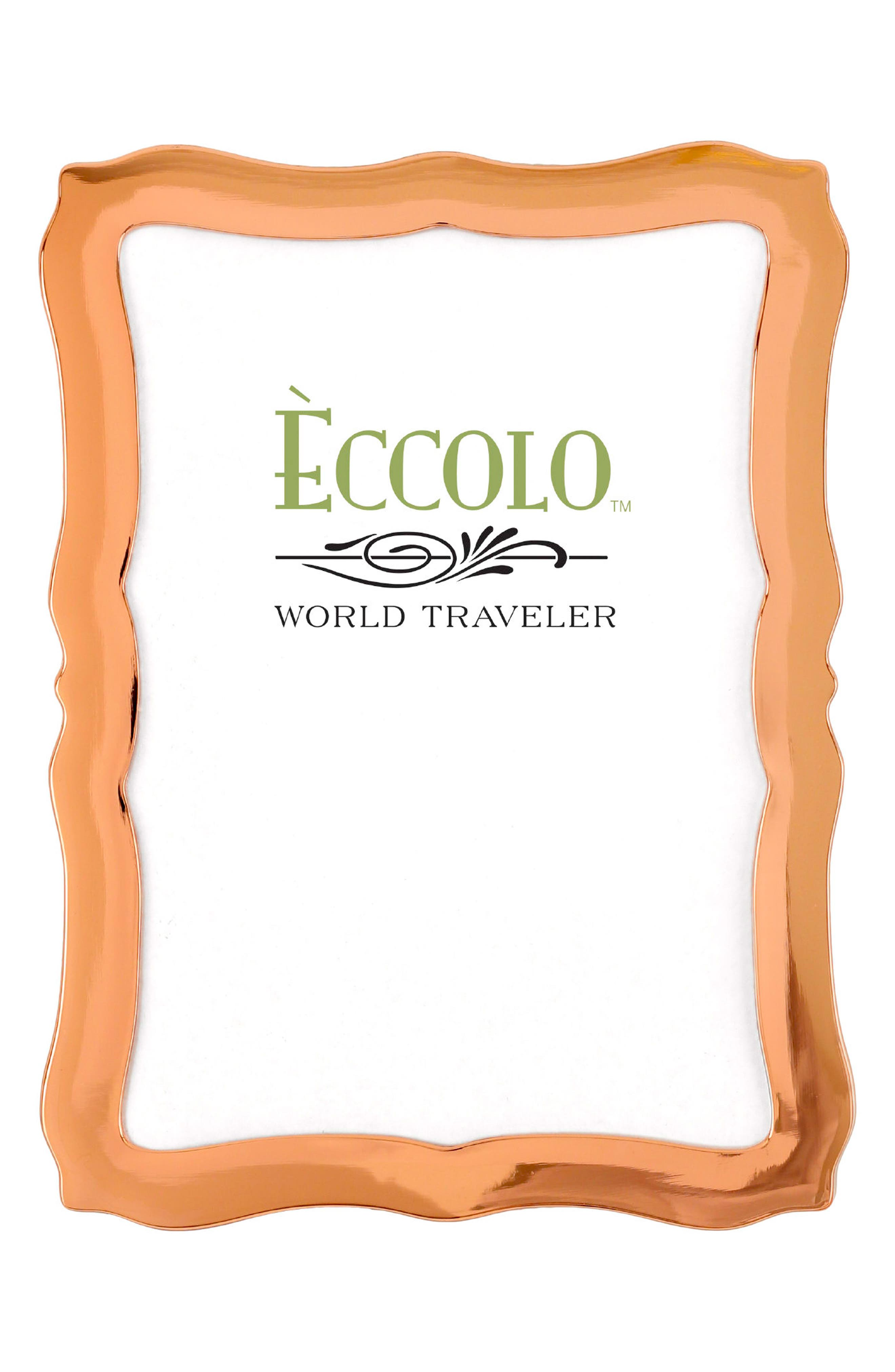 Scalloped Copper Picture Frame,                             Main thumbnail 1, color,                             220