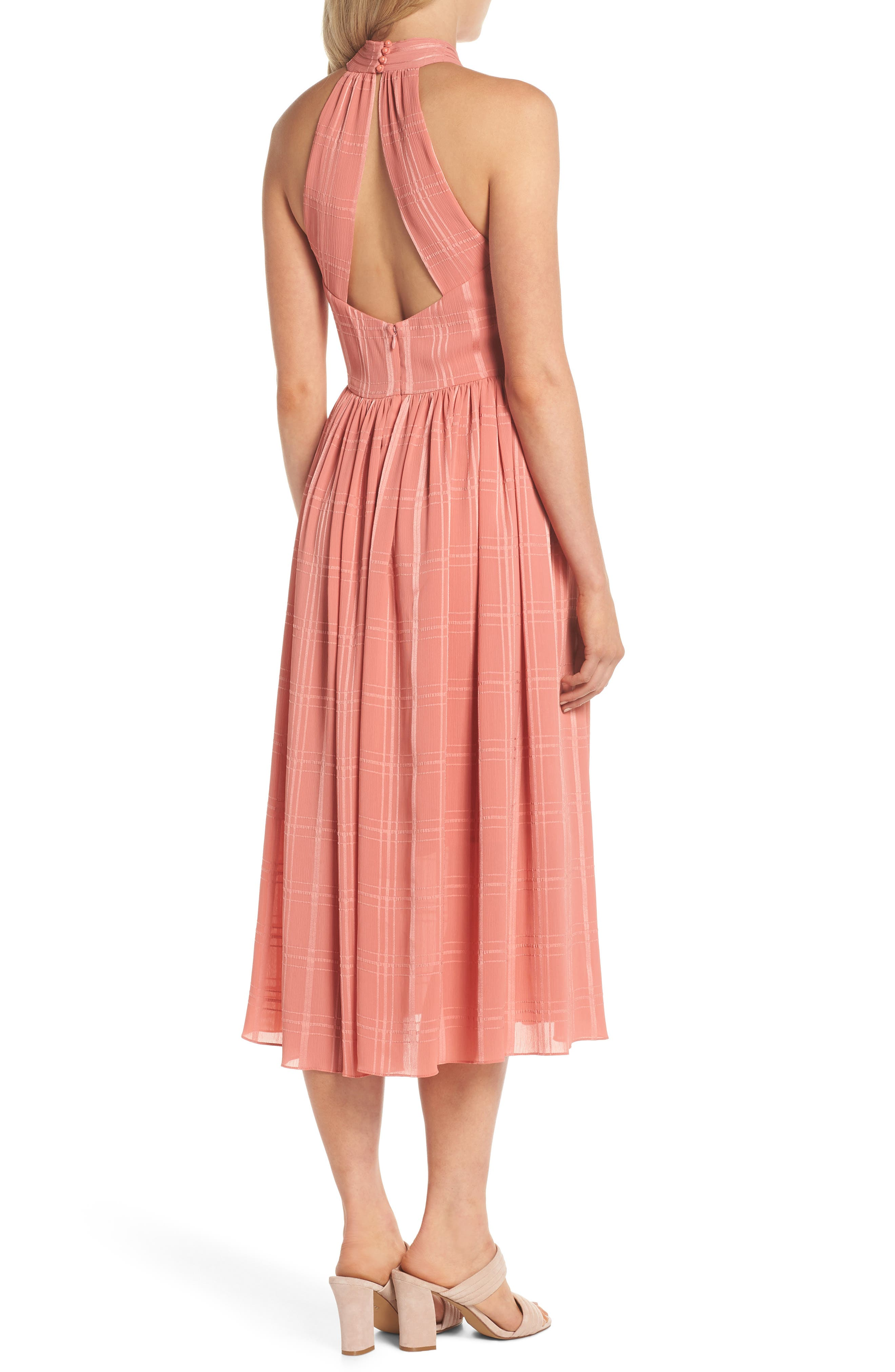Mia Twist Chiffon Midi Dress,                             Alternate thumbnail 2, color,                             681
