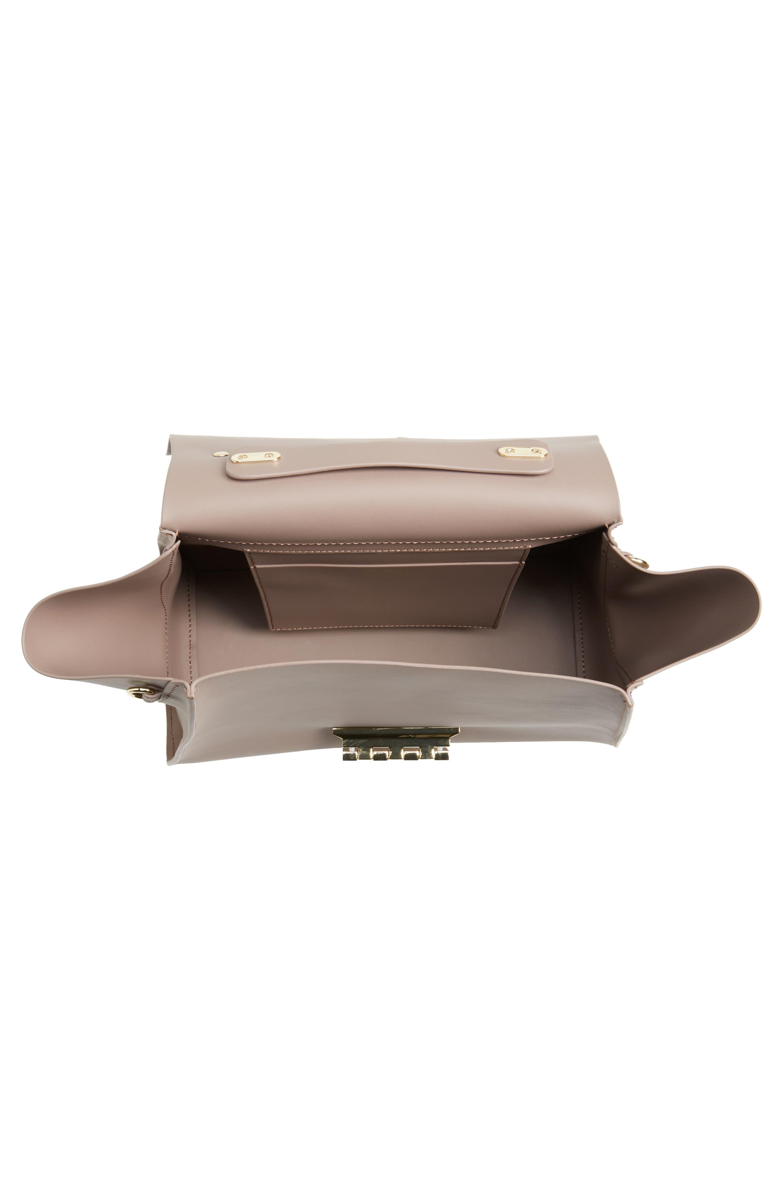 Eartha Iconic Calfskin Leather Top Handle Satchel,                             Alternate thumbnail 4, color,                             530