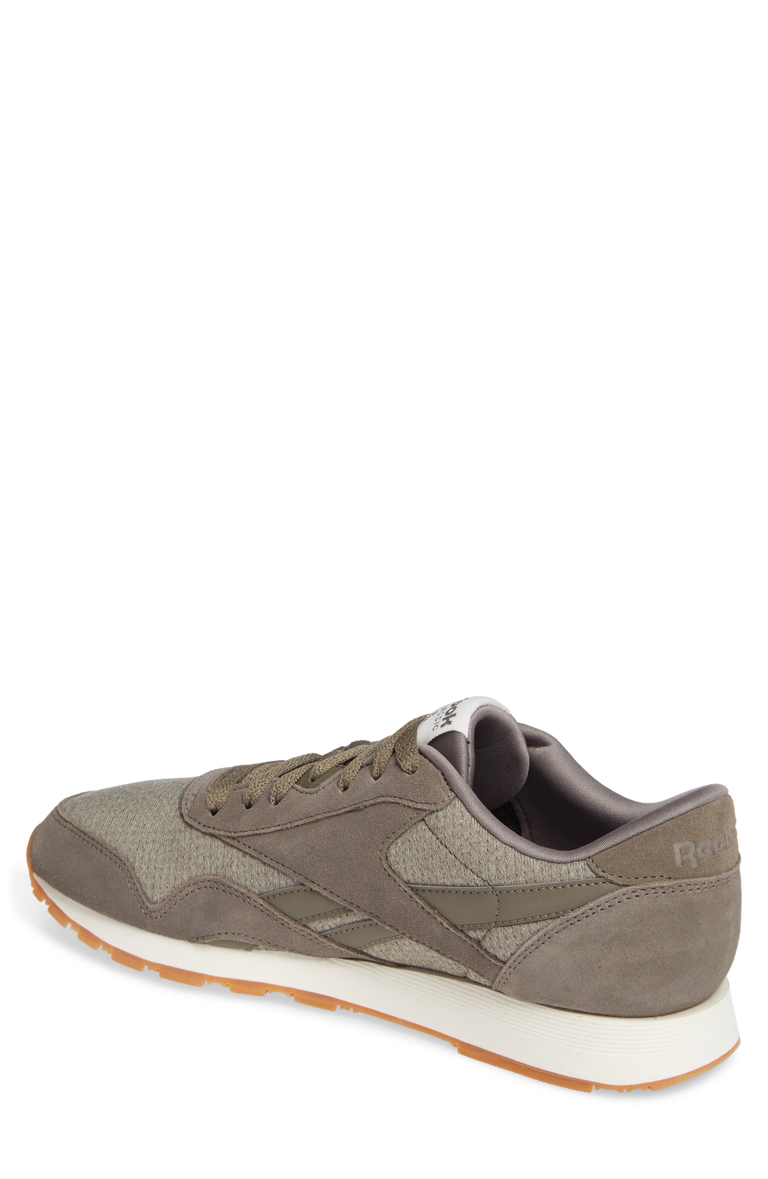 Classic Leather Nylon SG Sneaker,                             Alternate thumbnail 2, color,                             TERRAIN GREY/ CHALK