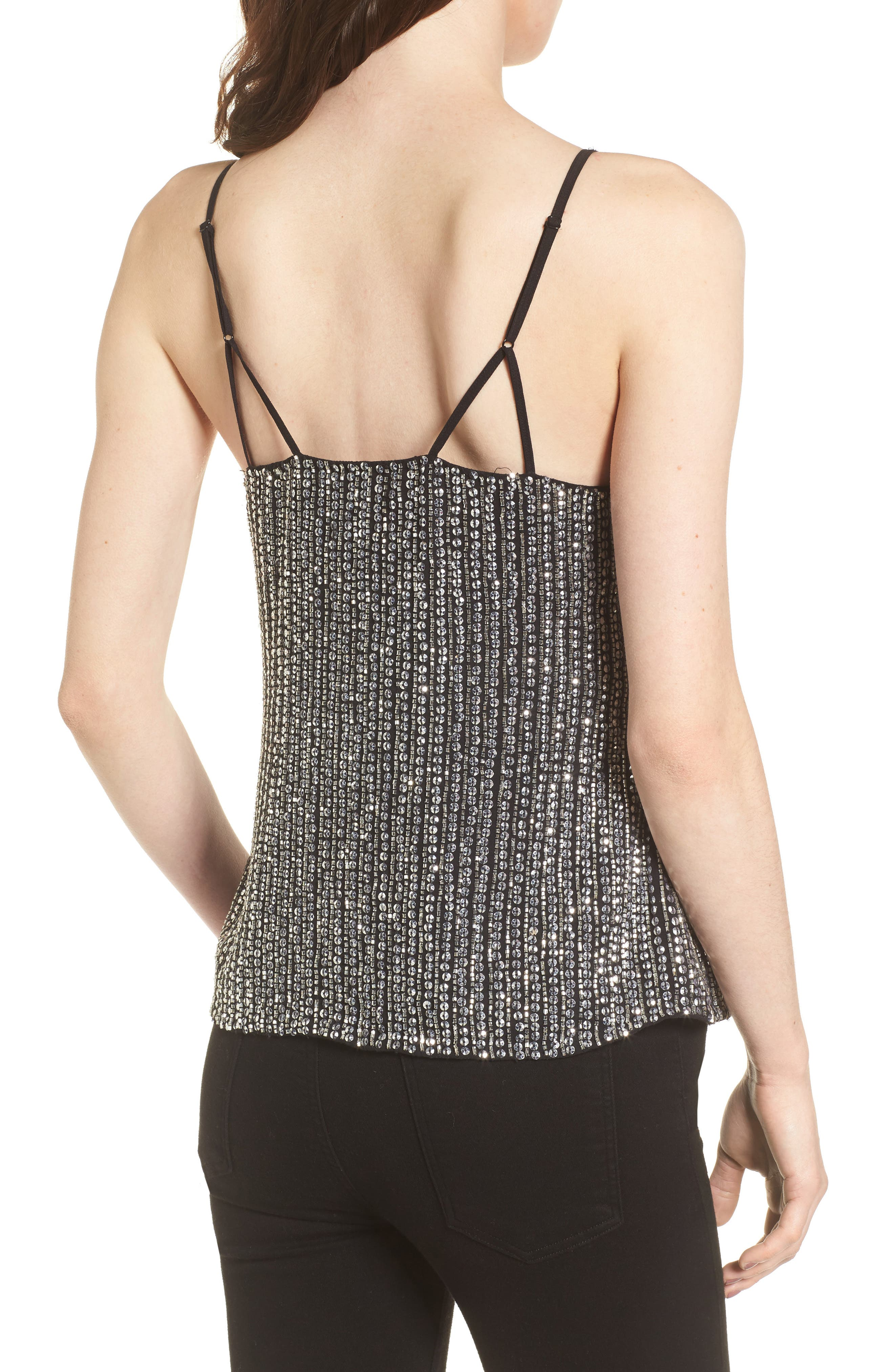 Justine Sequin Camisole,                             Alternate thumbnail 2, color,