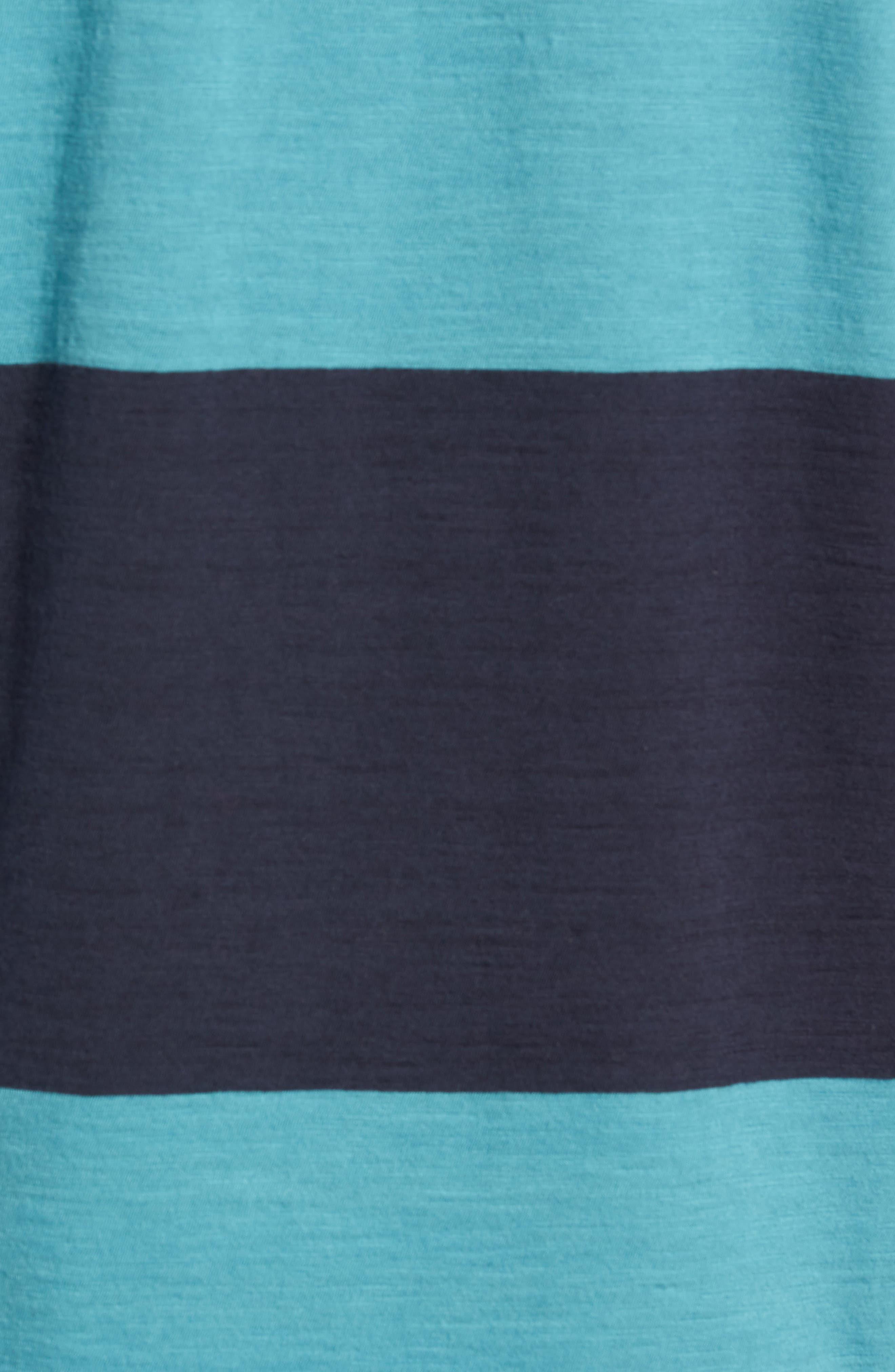 Colorblock Slubbed Pocket T-Shirt,                             Alternate thumbnail 5, color,                             NAVY/ BLUE