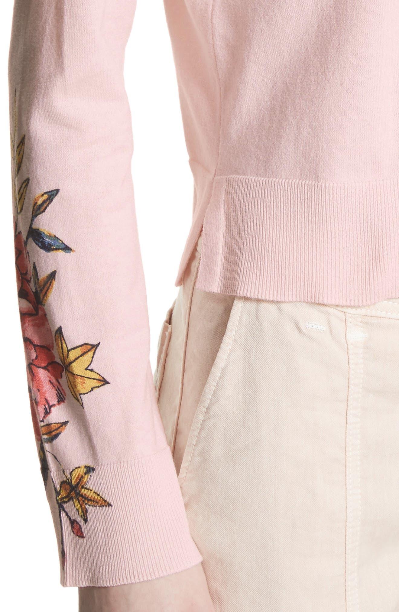 Paari Silk & Cashmere Sweater,                             Alternate thumbnail 4, color,