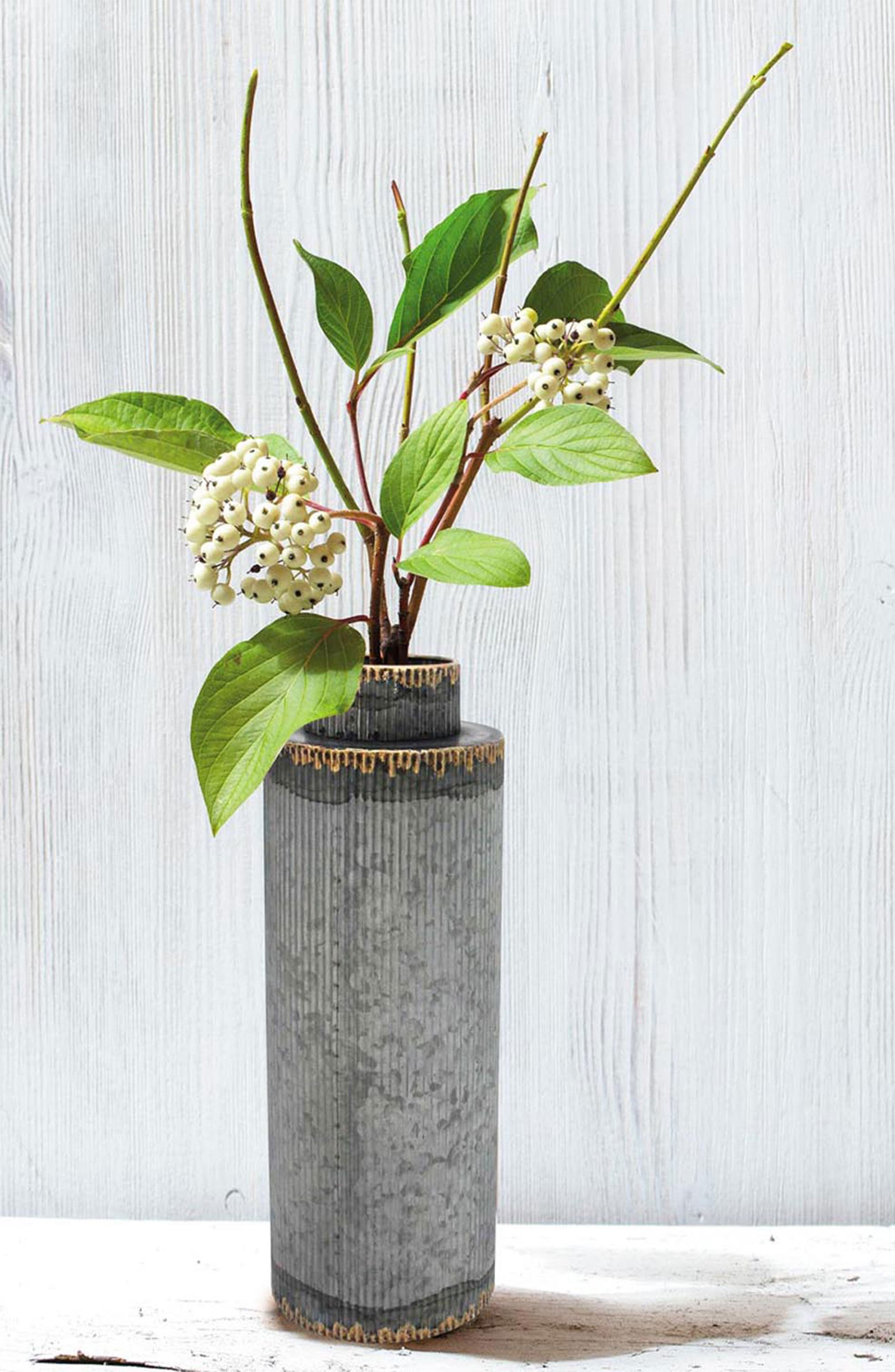 Flora Large Vase,                             Alternate thumbnail 2, color,
