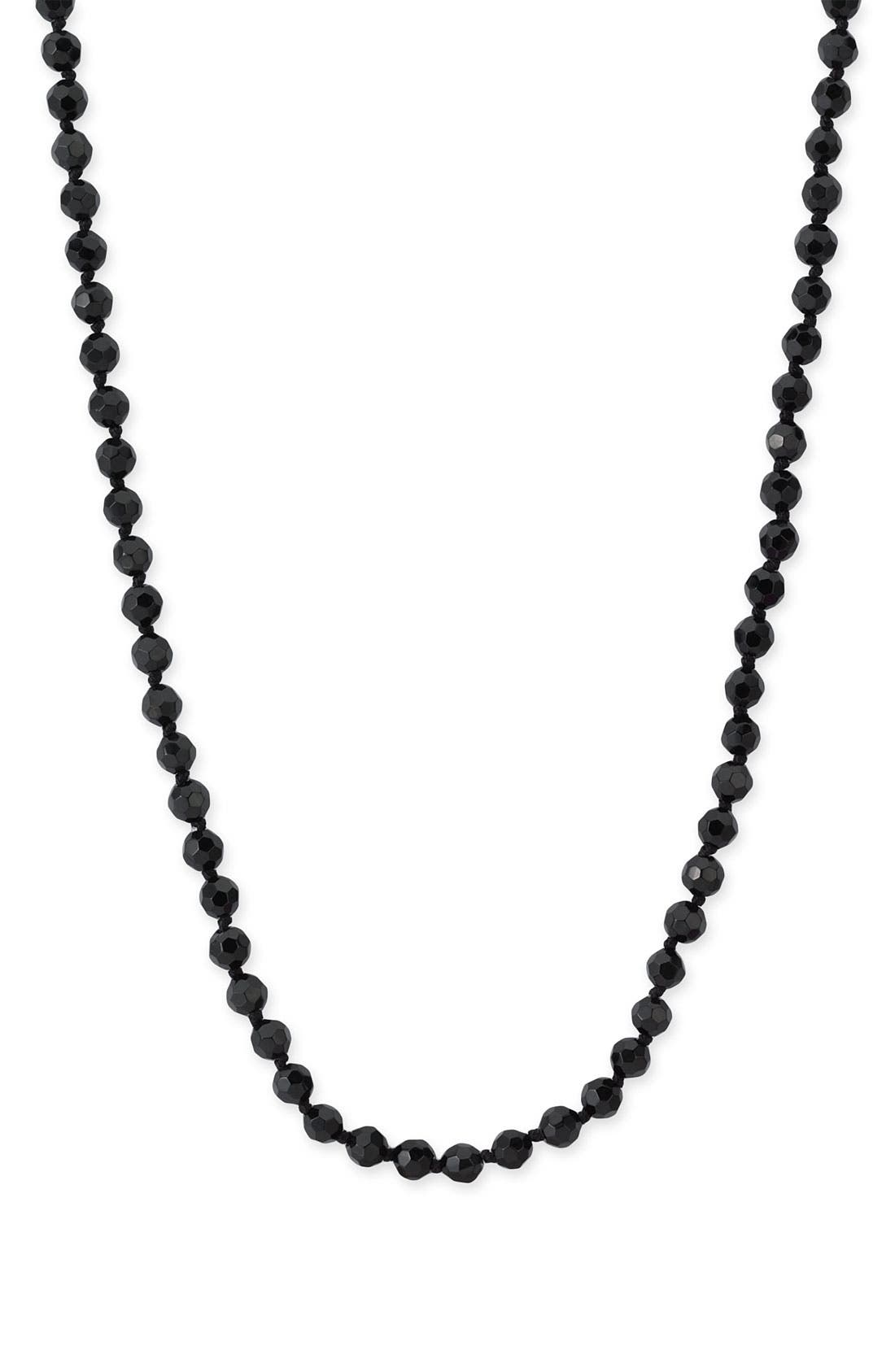 6mm Glass Pearl Extra Long Strand Necklace,                             Alternate thumbnail 2, color,                             001