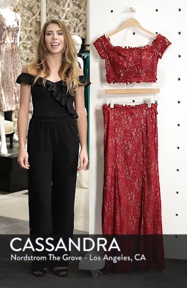 Two-Piece Off the Shoulder Lace Gown, sales video thumbnail