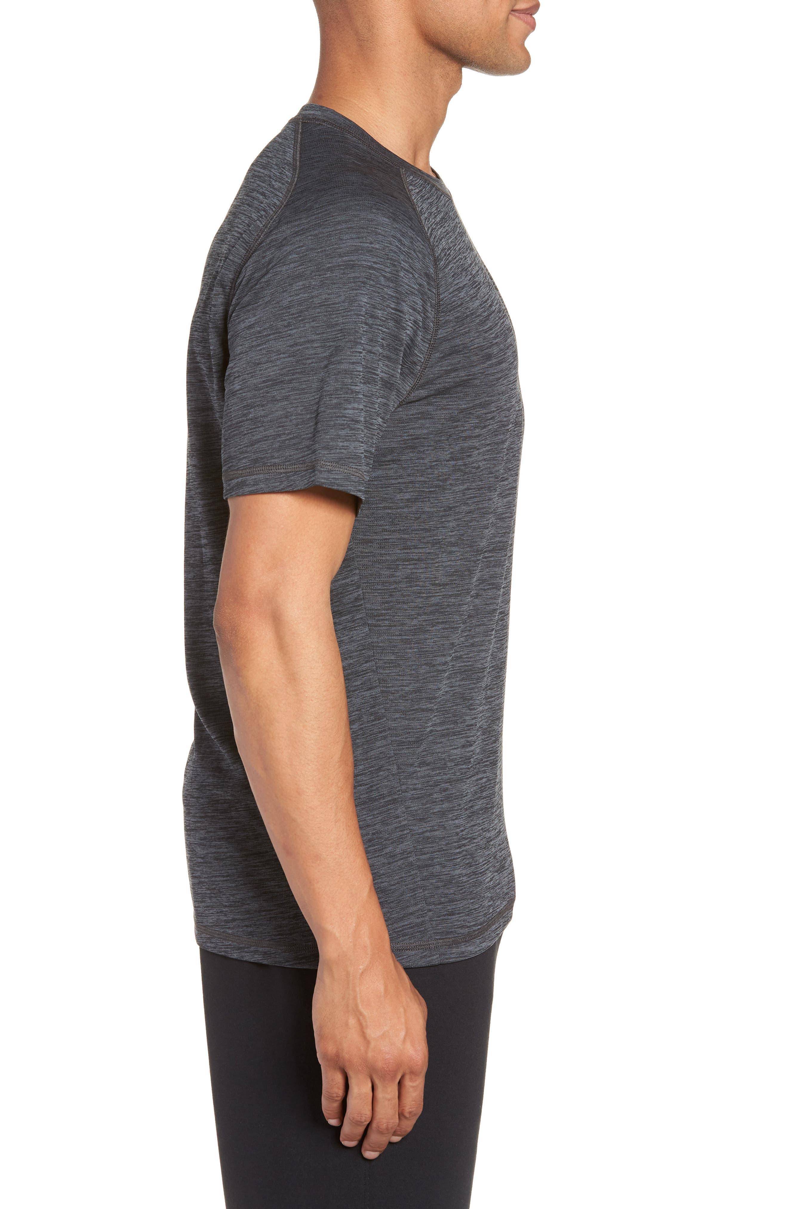 Kinoite Raglan Crewneck T-Shirt,                             Alternate thumbnail 3, color,                             GREY OBSIDIAN MELANGE