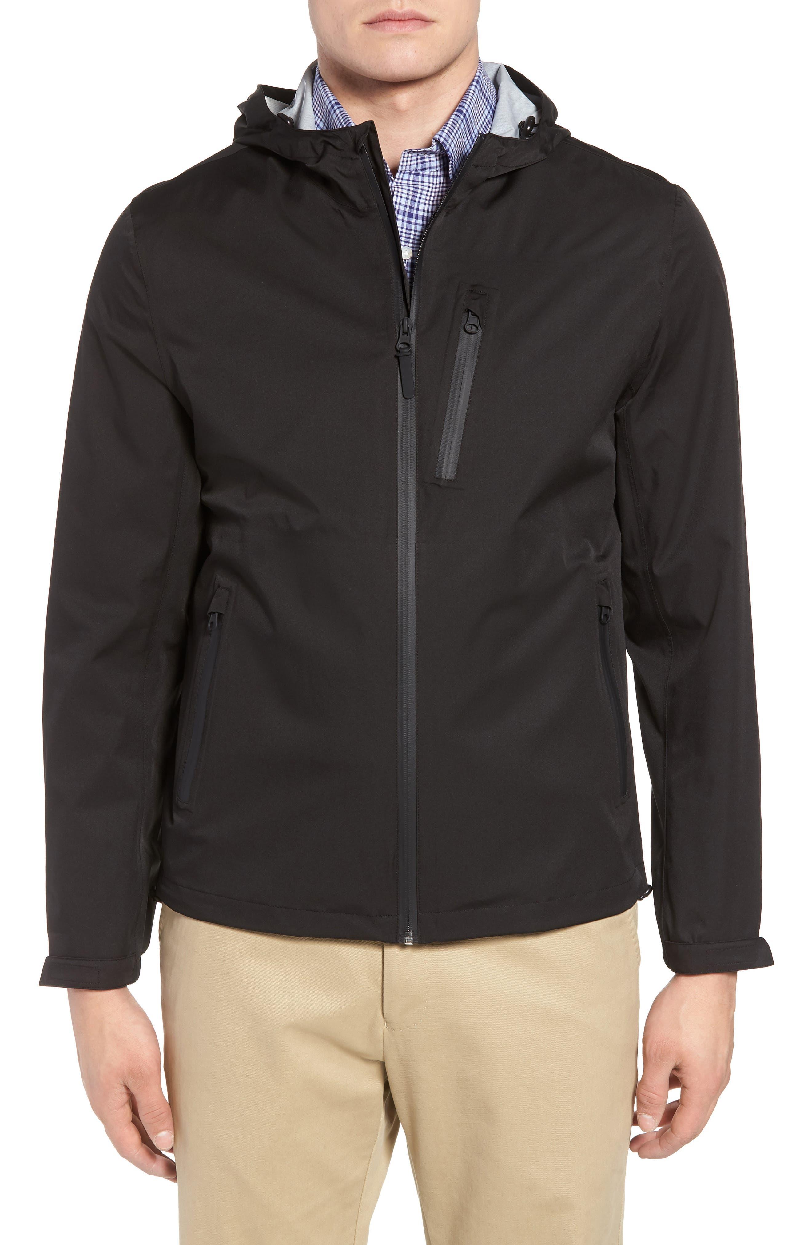 Packable Water Resistant Jacket,                         Main,                         color, BLACK