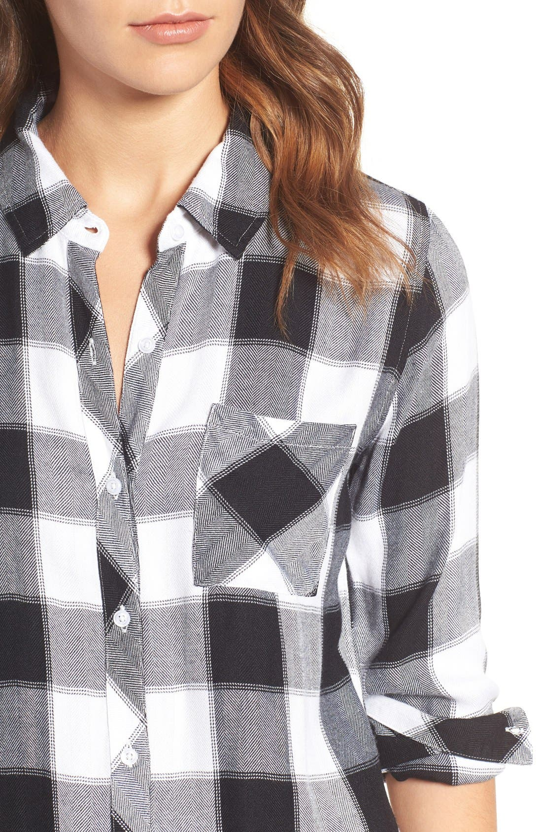 Hunter Plaid Shirt,                             Alternate thumbnail 369, color,