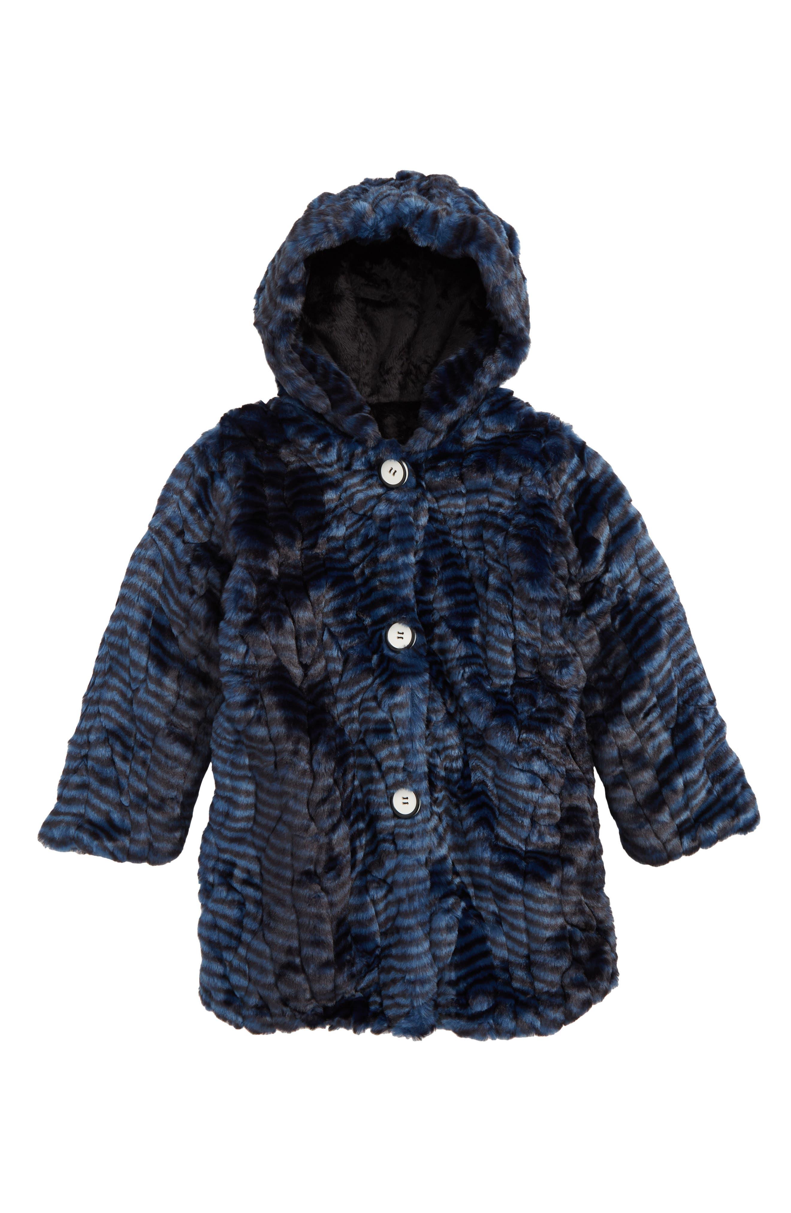 Hooded Faux Fur Coat,                             Main thumbnail 1, color,                             401