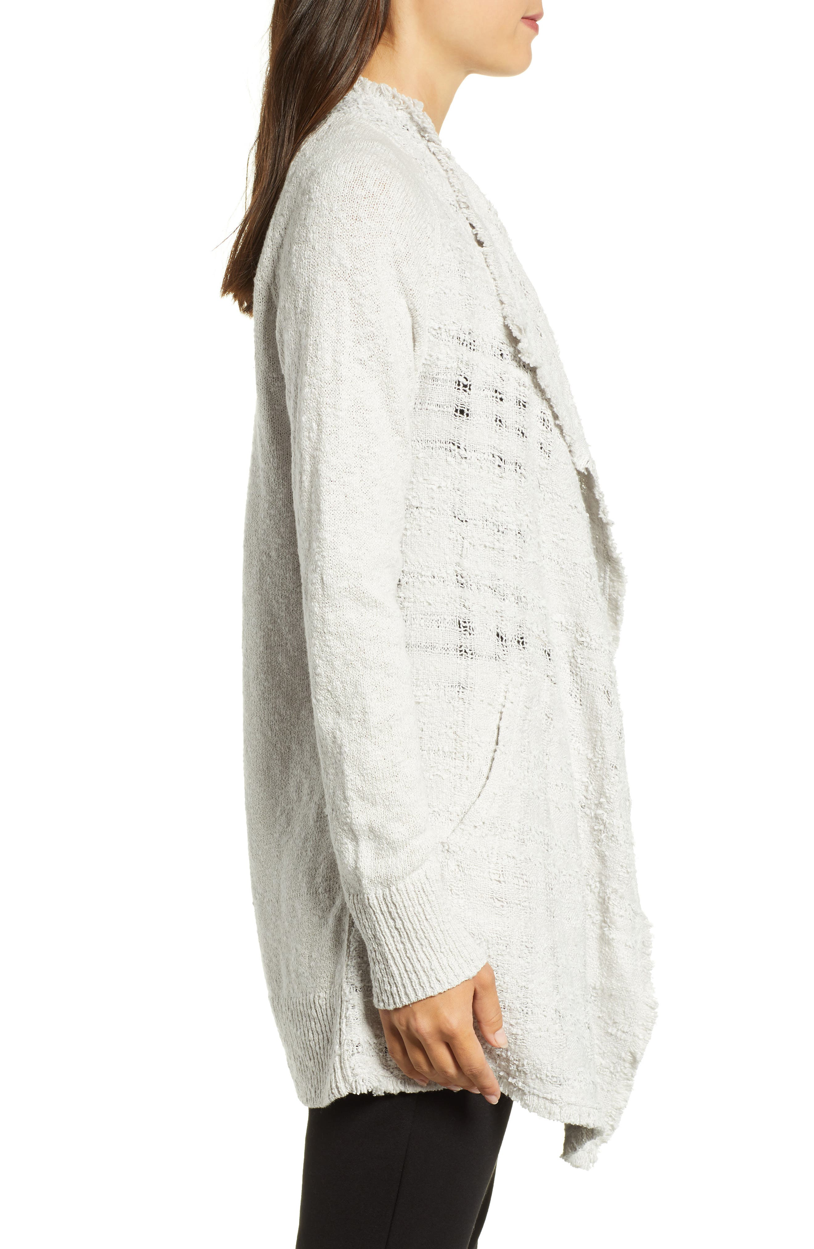 Carefree Cardigan,                             Alternate thumbnail 3, color,                             FROST