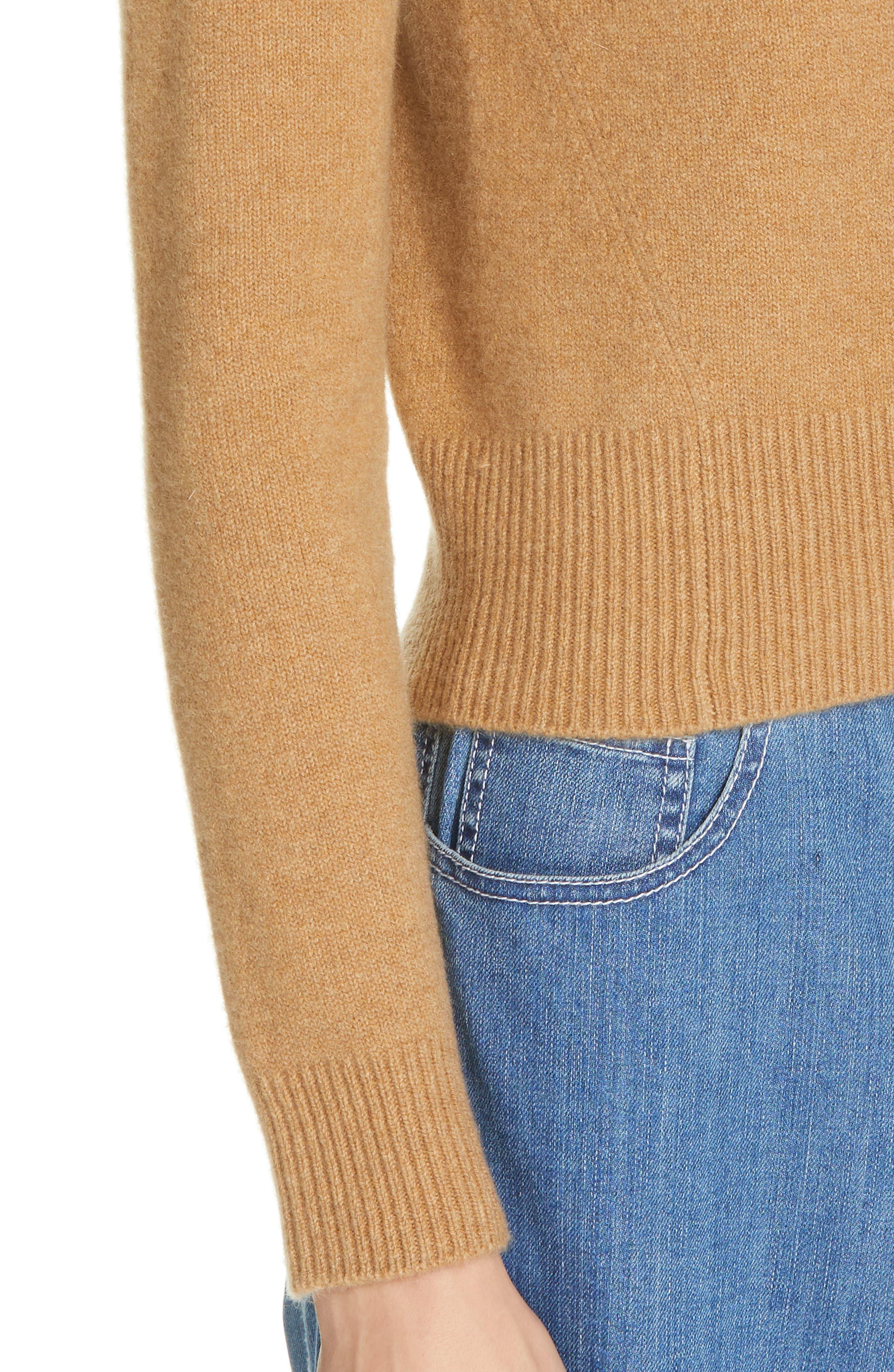 Stretch Cashmere Sweater,                             Alternate thumbnail 4, color,                             CARAMEL