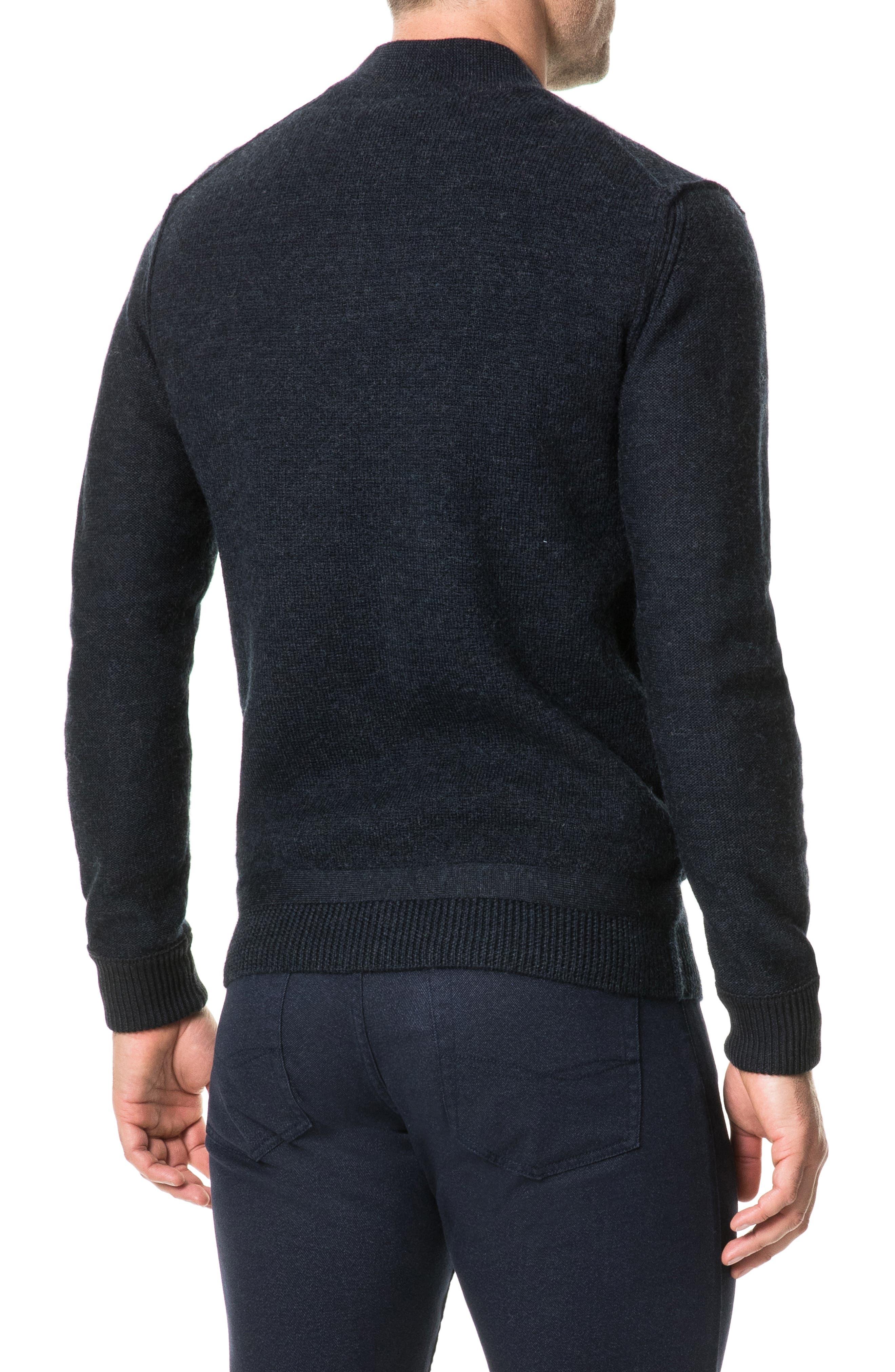 Fairton Regular Fit Wool Zip Front Sweater,                             Alternate thumbnail 2, color,                             NAVY