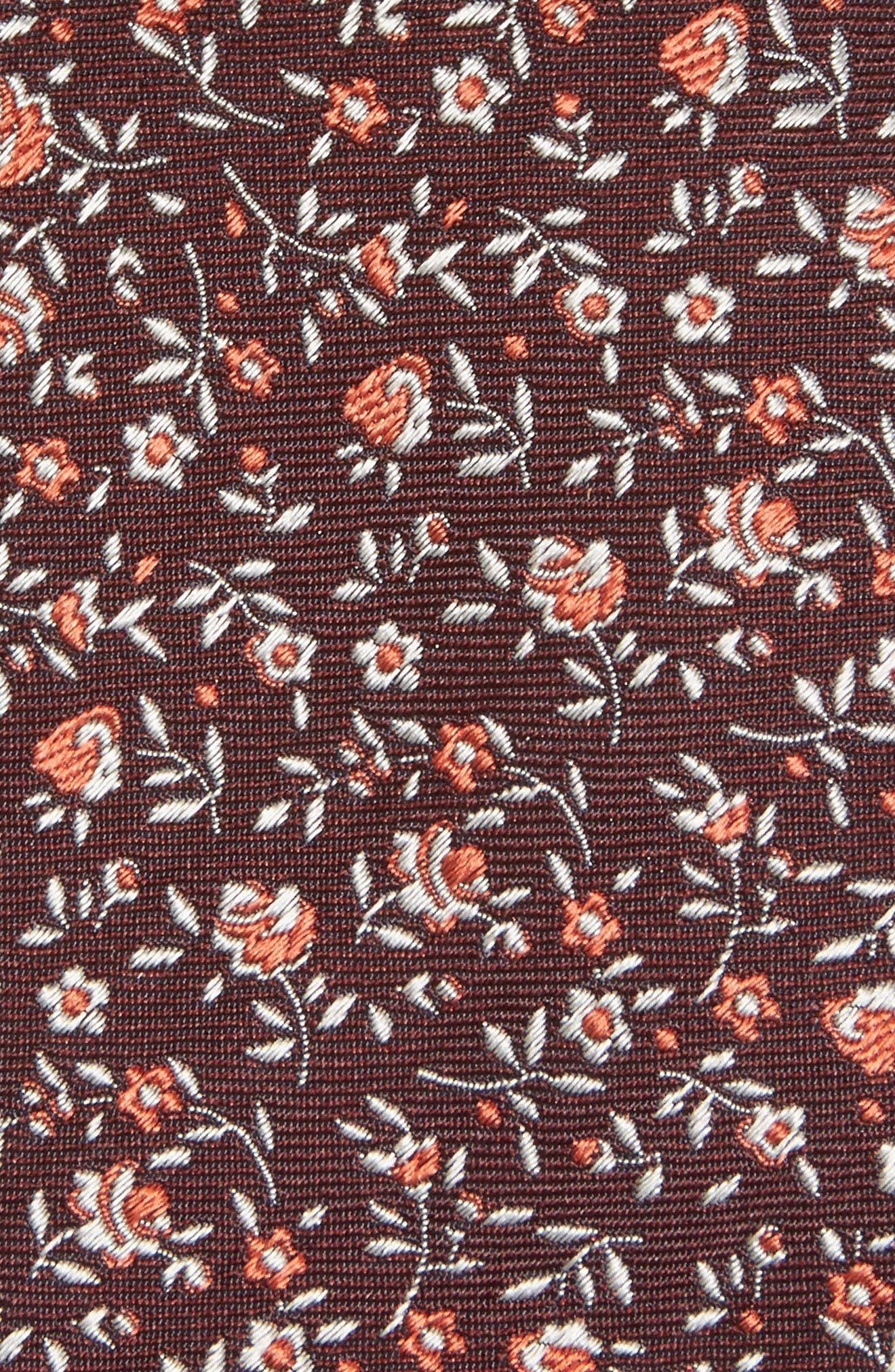 Floral Silk Skinny Tie,                             Alternate thumbnail 2, color,                             001