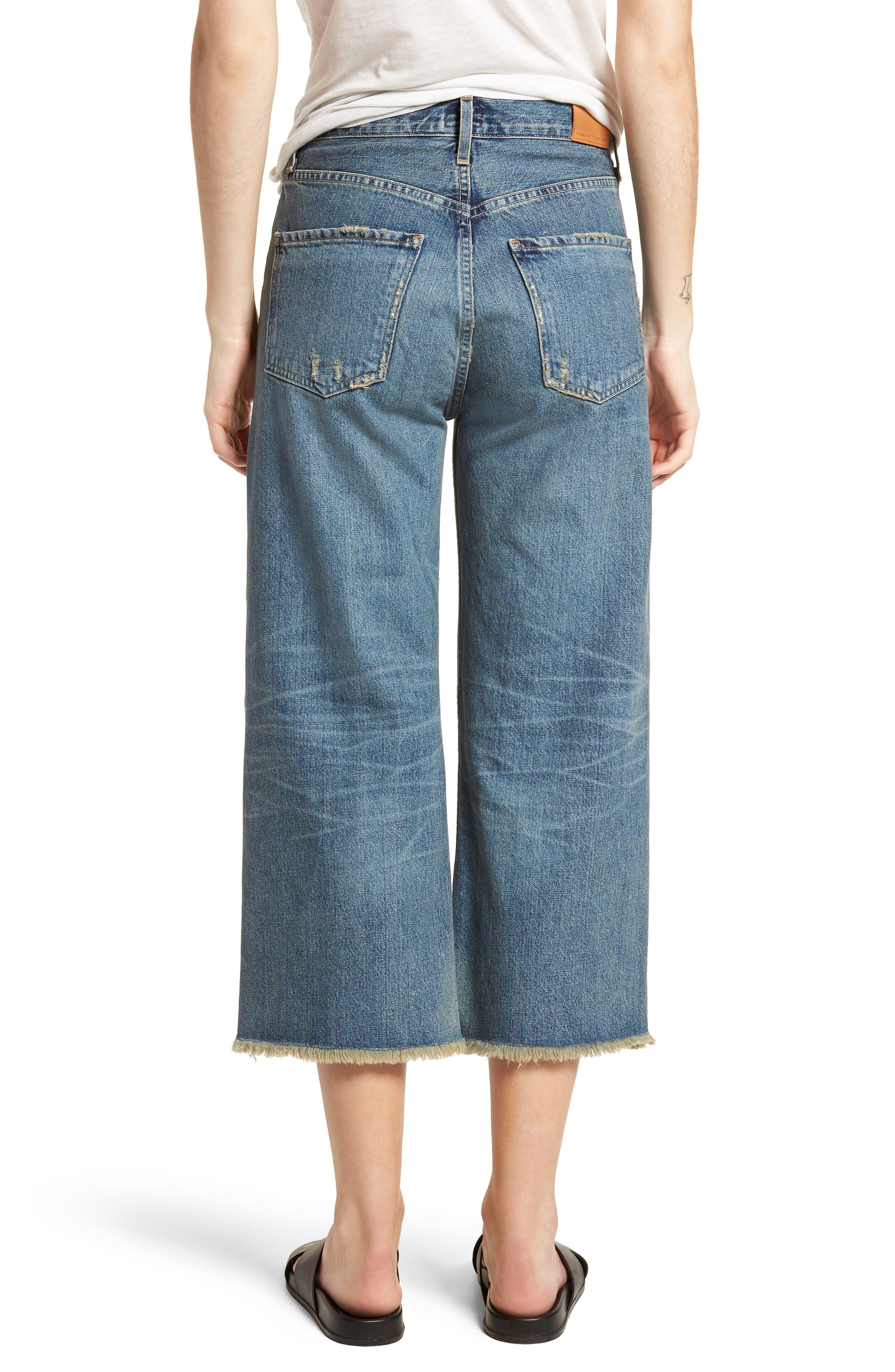 Emma High Waist Crop Wide Leg Jeans,                             Alternate thumbnail 2, color,                             428