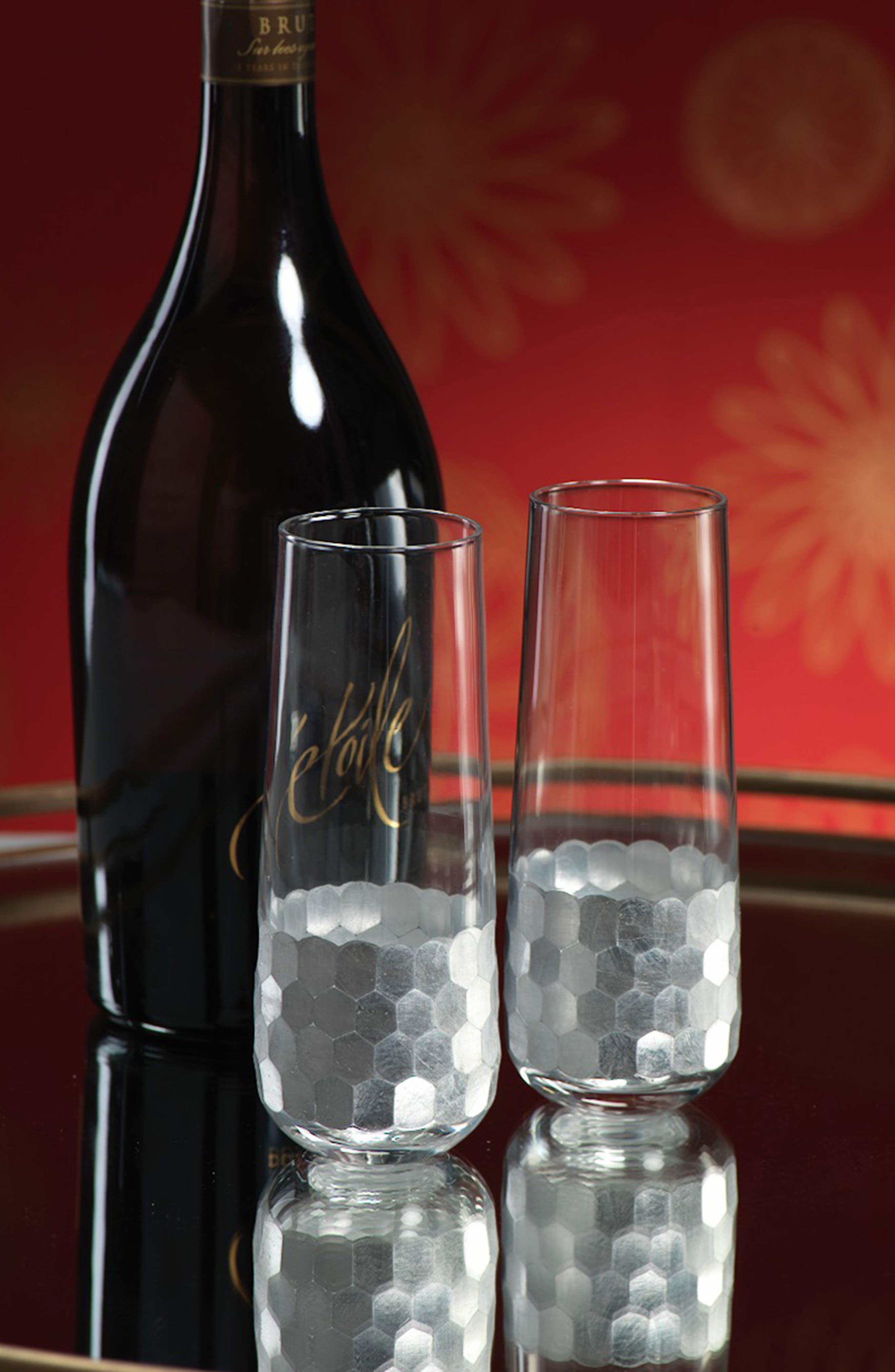 Vitorrio Set of 6 Stemless Champagne Glasses,                             Alternate thumbnail 2, color,                             710