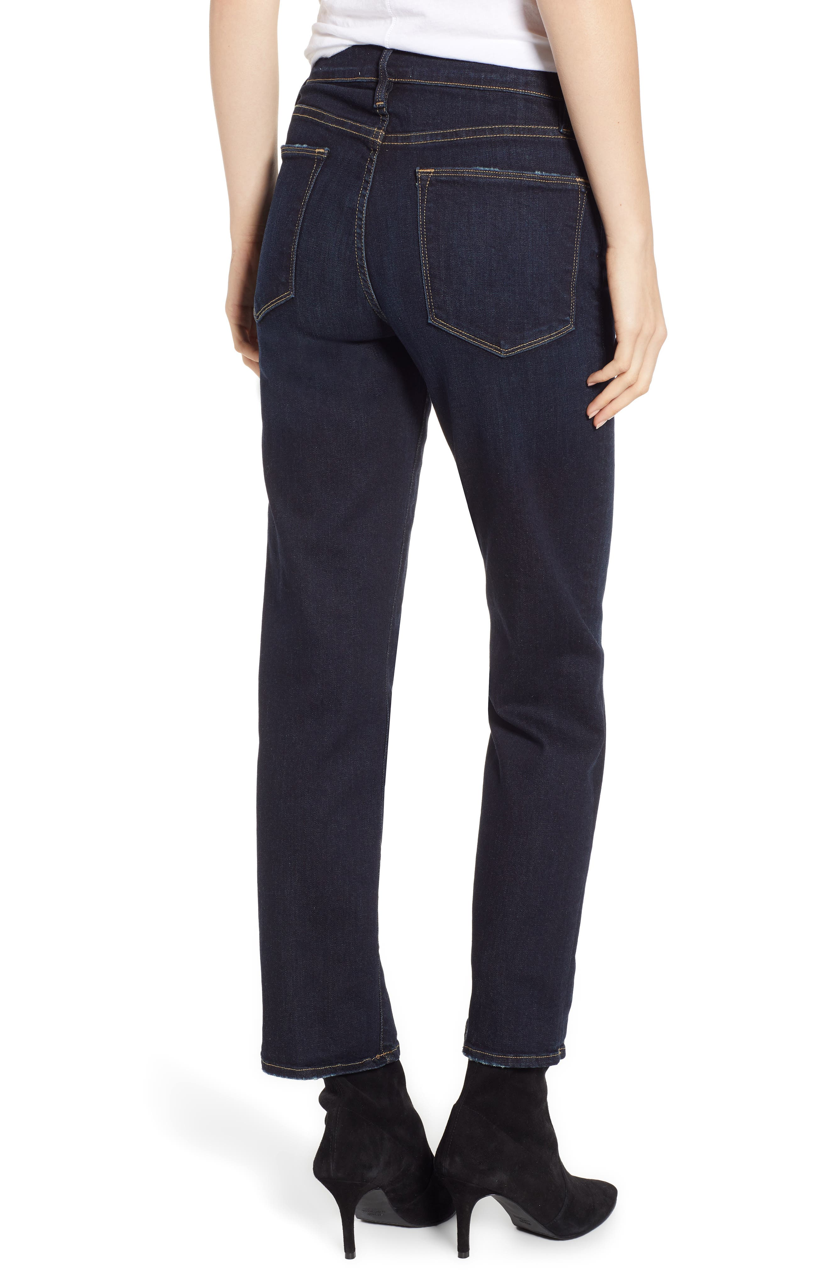 Le High Straight High Waist Crop Jeans,                             Alternate thumbnail 2, color,                             PRINGLE POINT