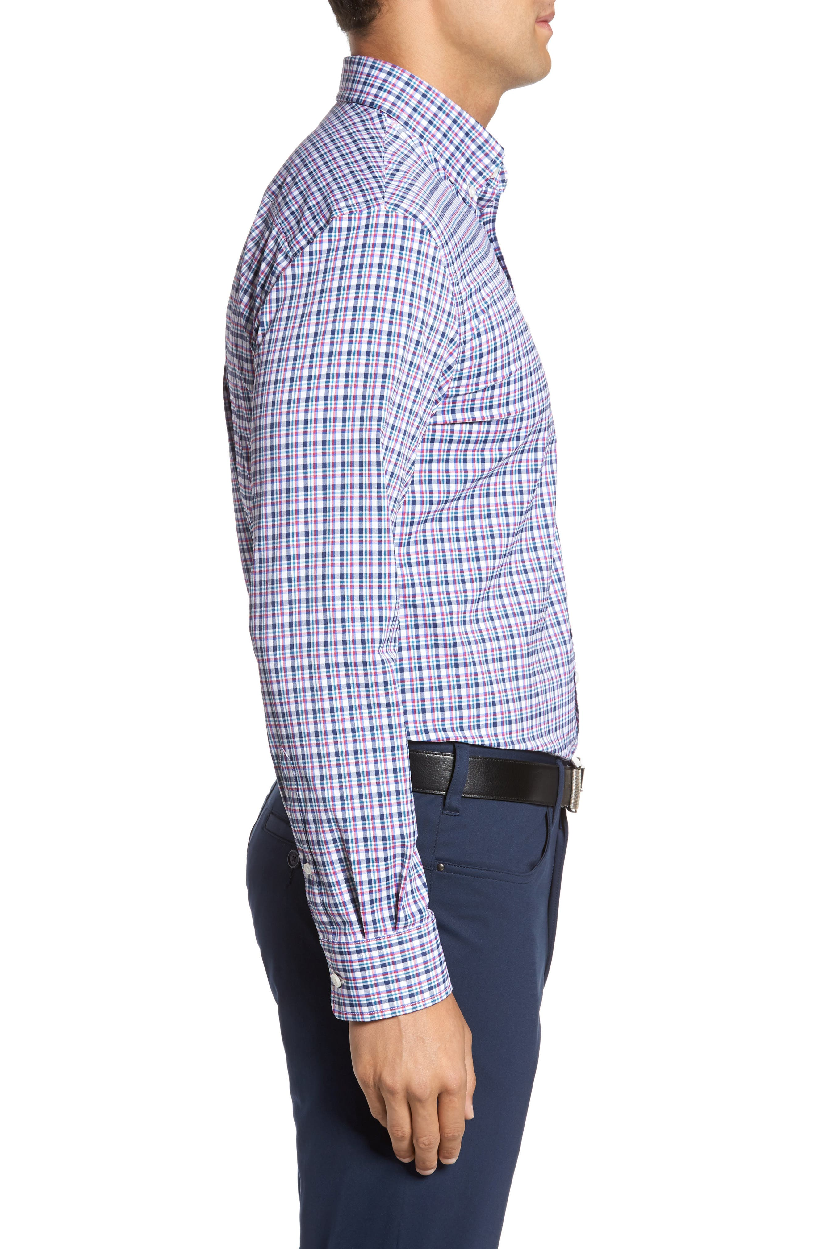 Matthers Easy Care Plaid Sport Shirt,                             Alternate thumbnail 3, color,                             490