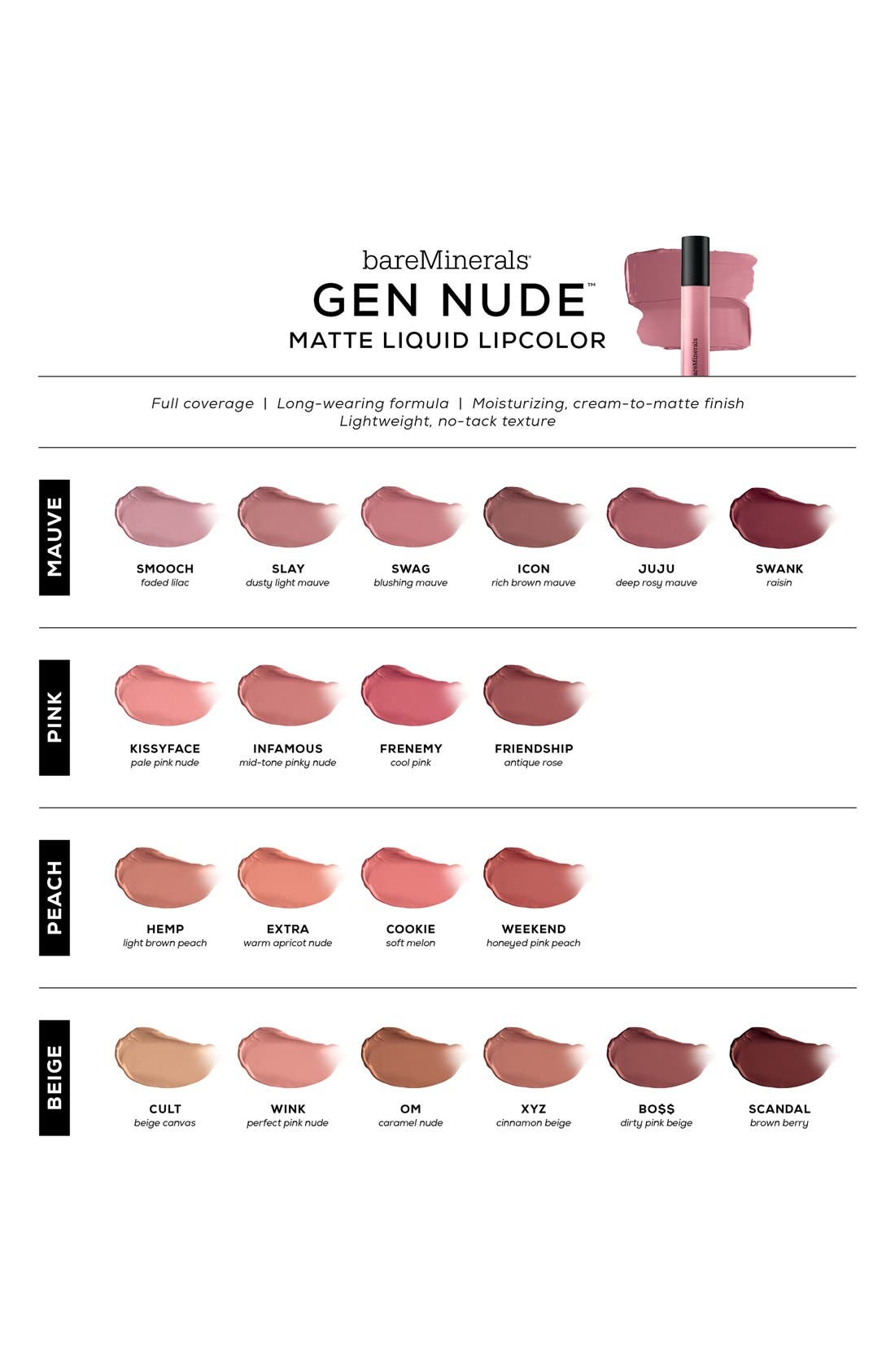 GEN NUDE<sup>™</sup> Matte Liquid Lipstick,                             Alternate thumbnail 5, color,                             COOKIE
