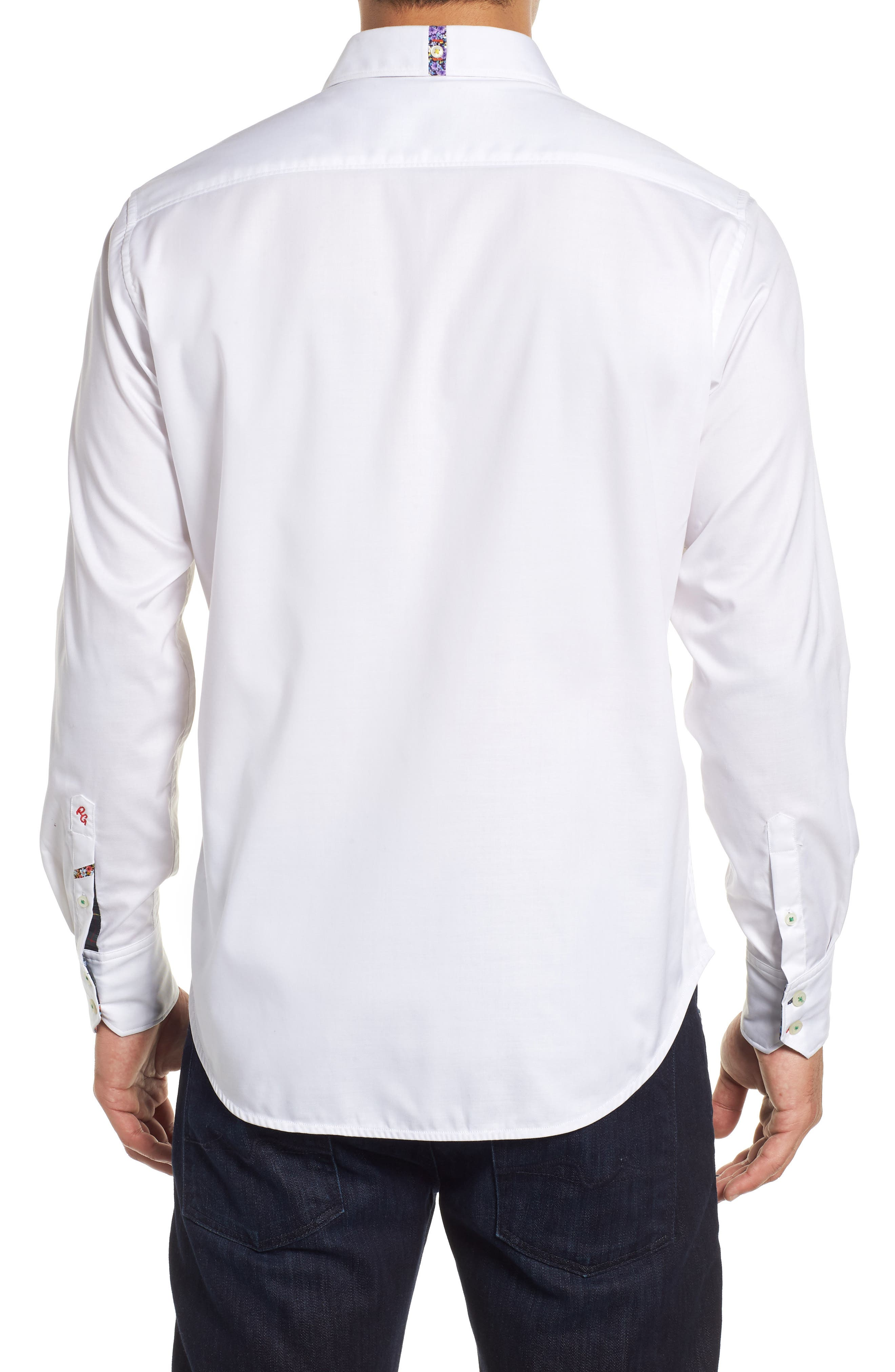 ROBERT GRAHAM,                             Bridgeman Classic Fit Sport Shirt,                             Alternate thumbnail 3, color,                             100