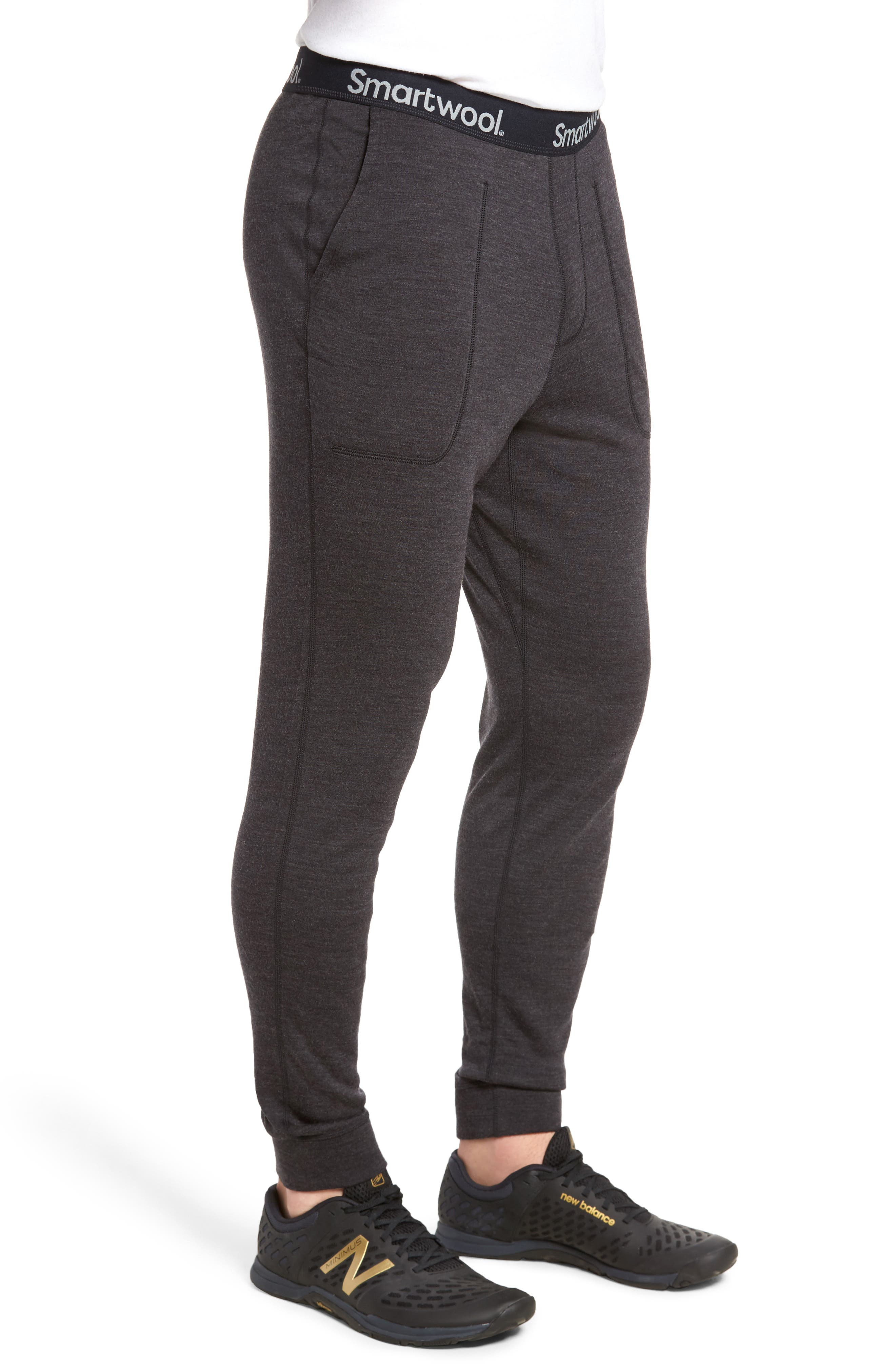 250 Merino Wool Jogger Pants,                             Alternate thumbnail 3, color,                             CHARCOAL