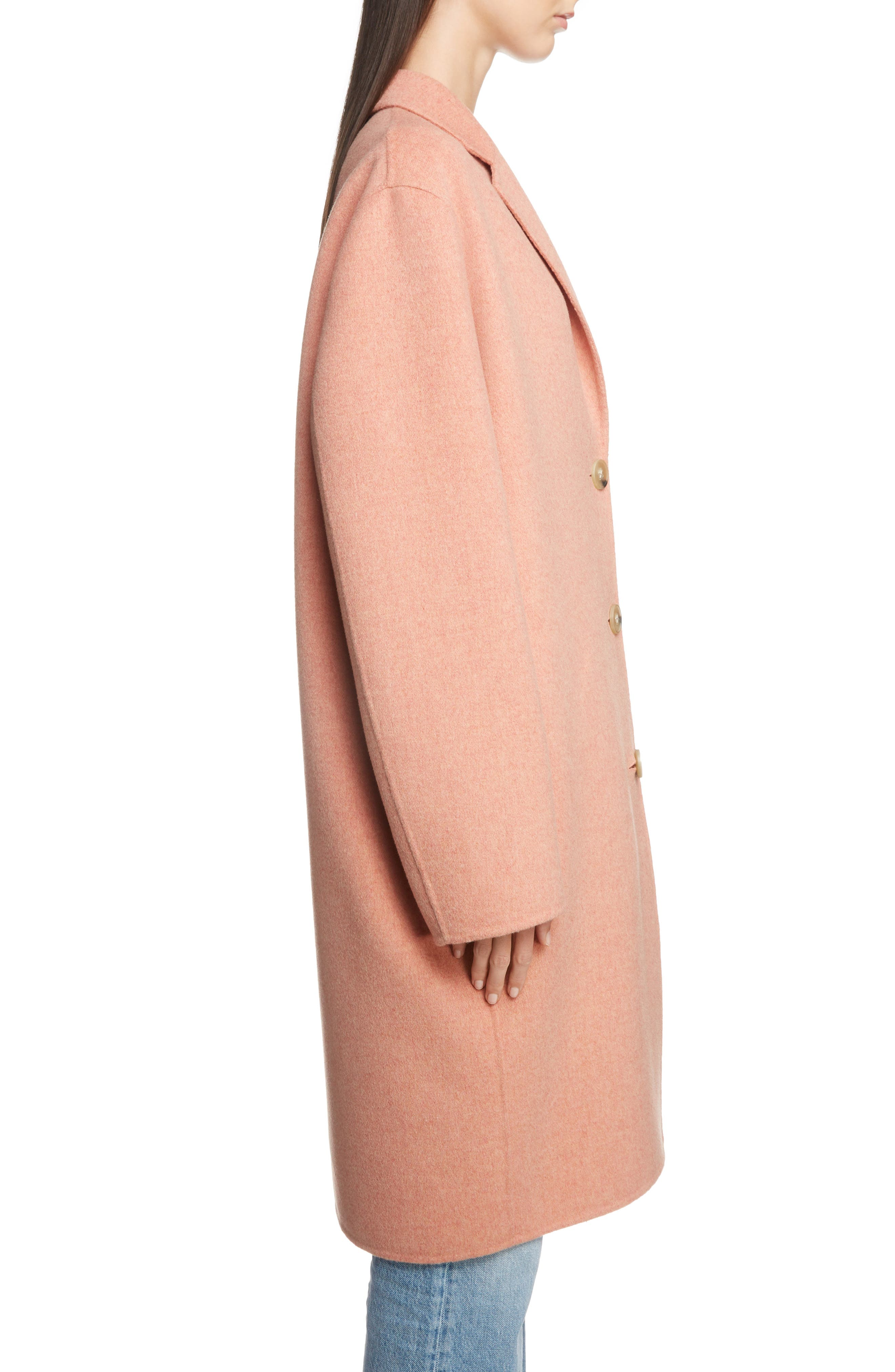 Double Wool & Cashmere Coat,                             Alternate thumbnail 3, color,                             650