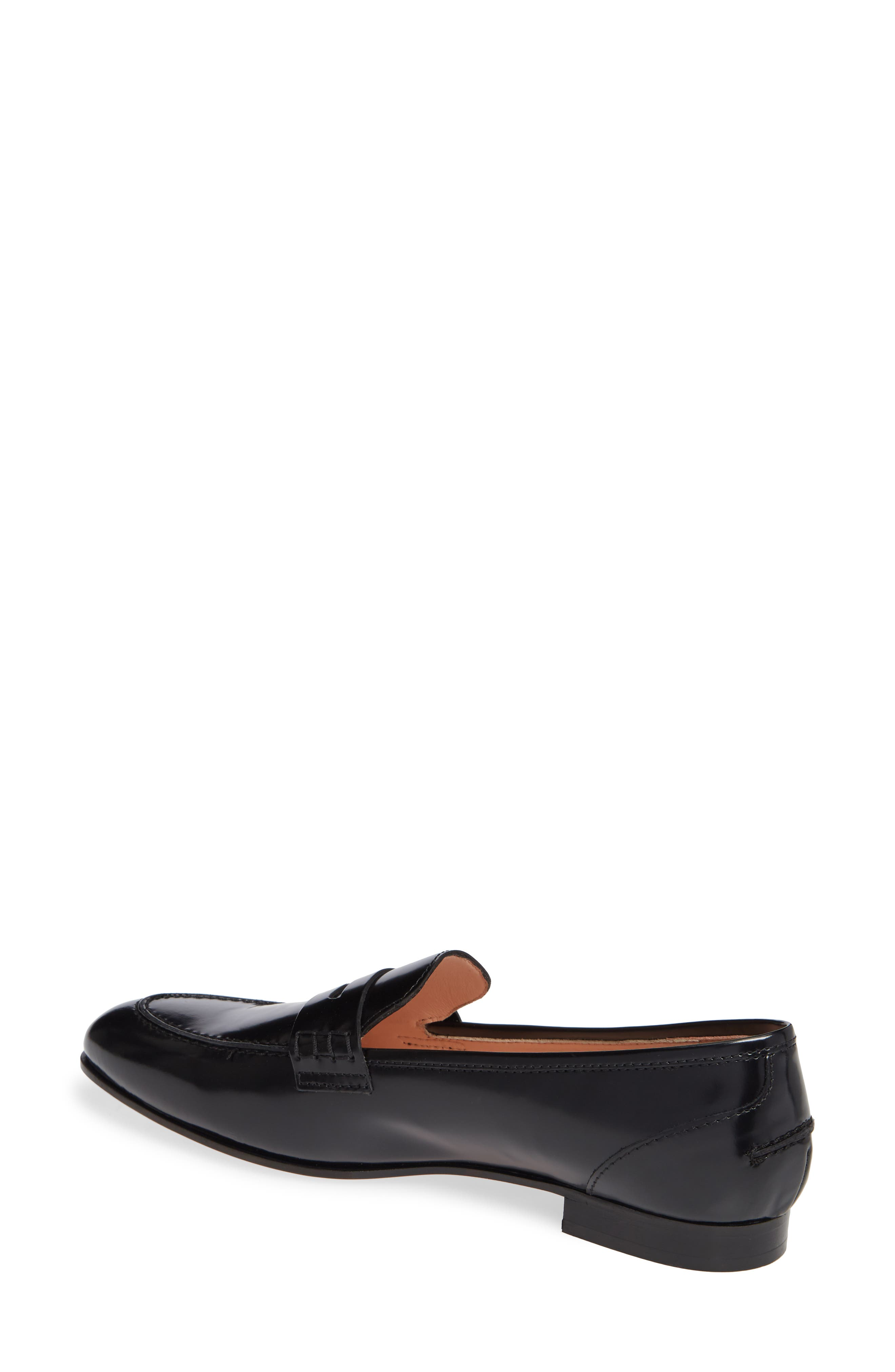 Academy Penny Loafer,                             Alternate thumbnail 2, color,                             BLACK LEATHER