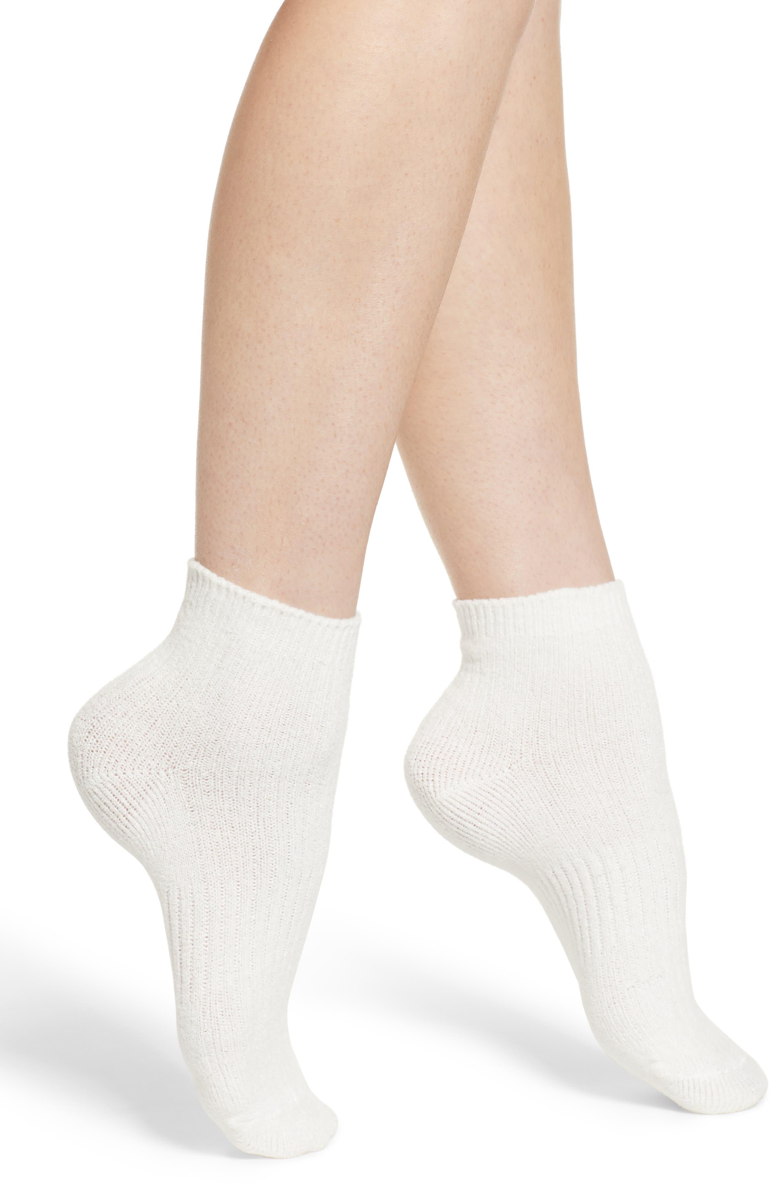 Butter Ankle Socks, Main, color, WHITE