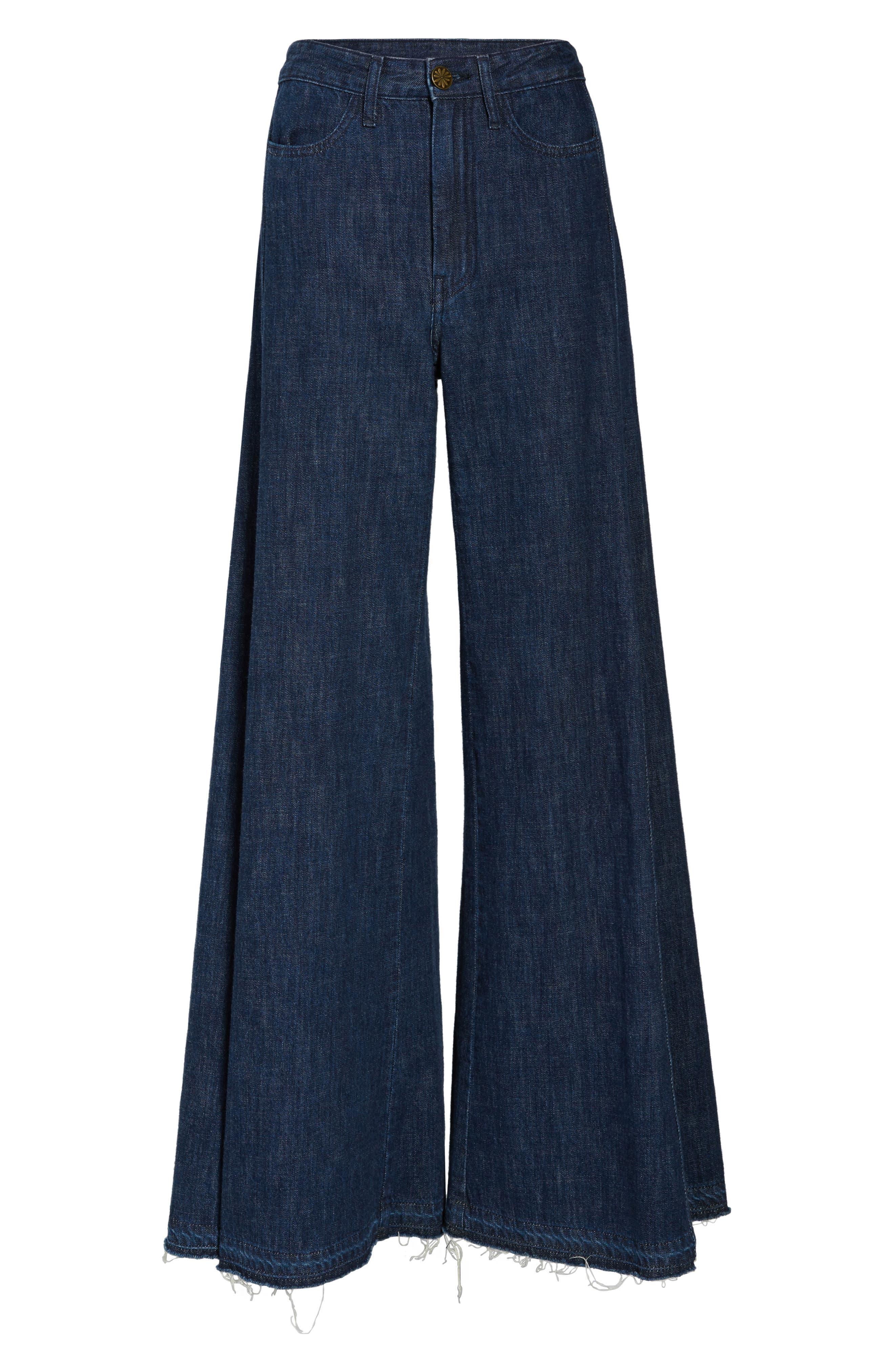 San Fran Super Flare Denim Pants,                             Alternate thumbnail 6, color,                             400