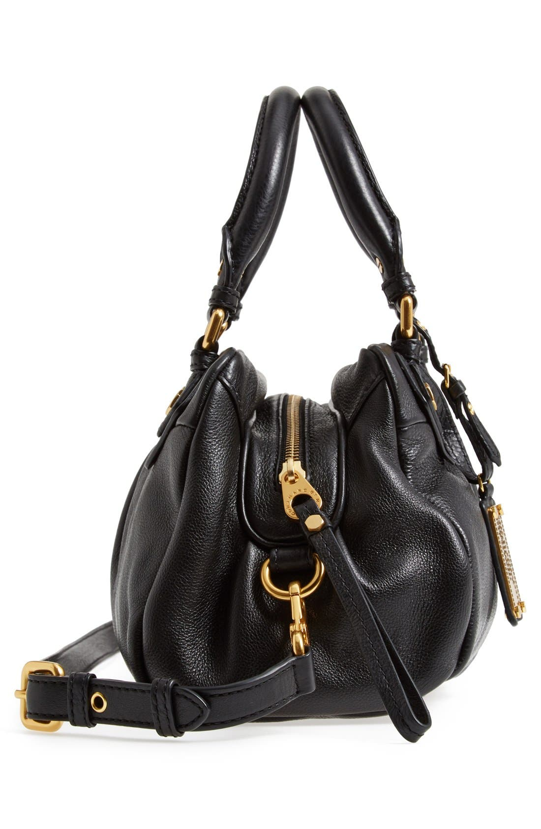 MARC BY MARC JACOBS 'Classic Q - Baby Groovee' Leather Satchel,                             Alternate thumbnail 6, color,                             002