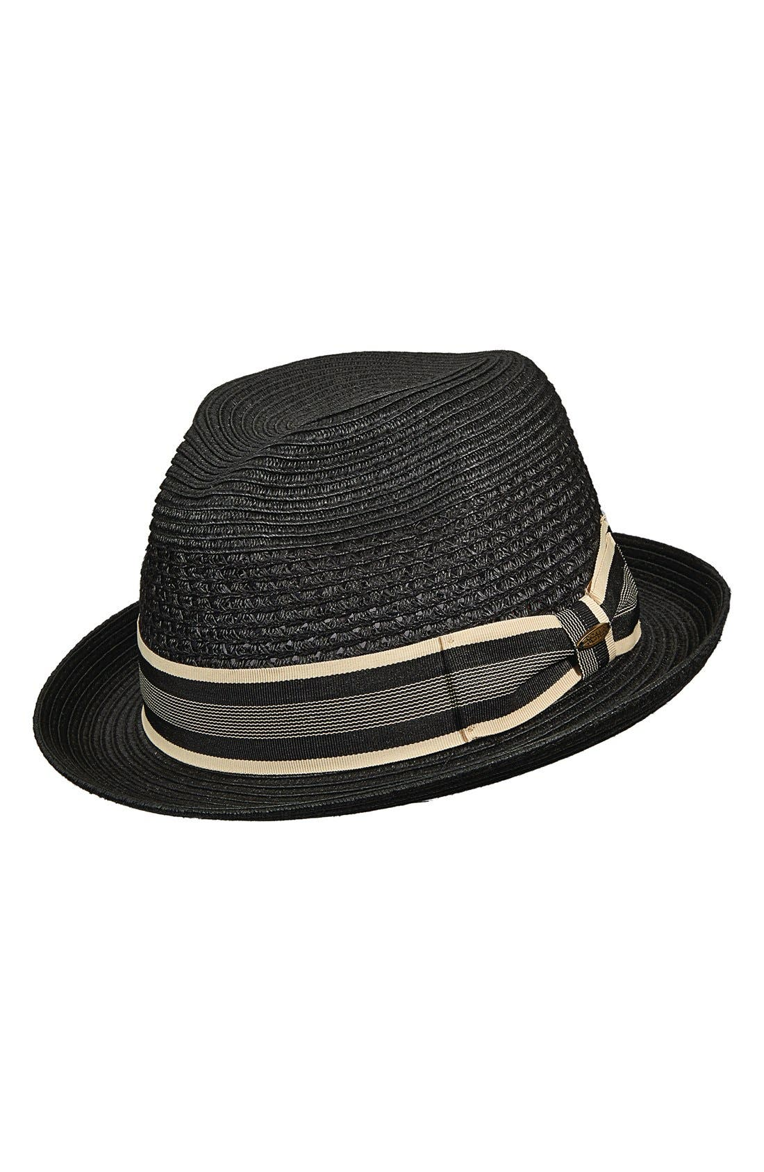 Braided Paper Fedora,                             Main thumbnail 1, color,                             001