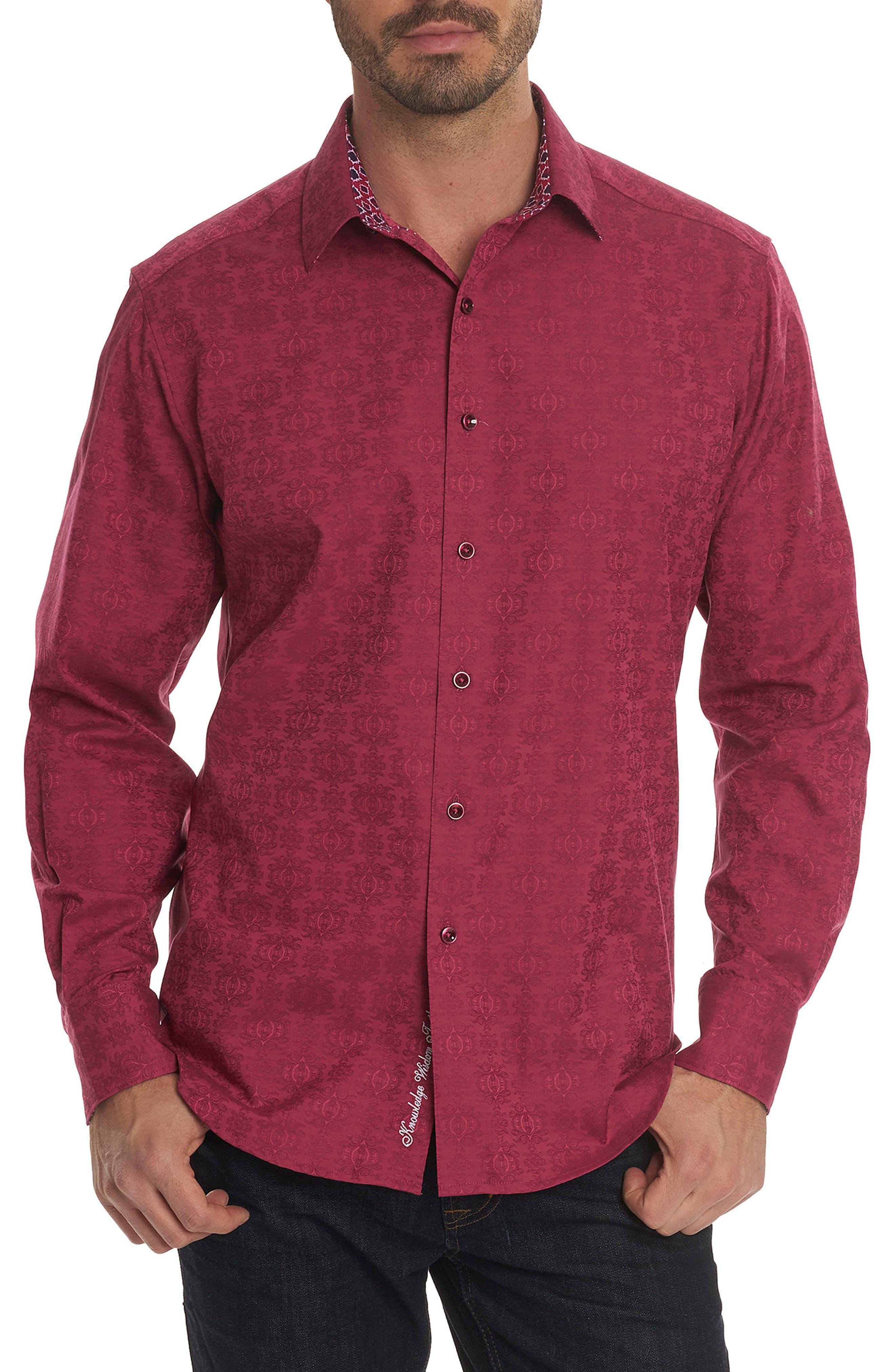 Cullen Classic Fit Jacquard Sport Shirt,                             Main thumbnail 2, color,