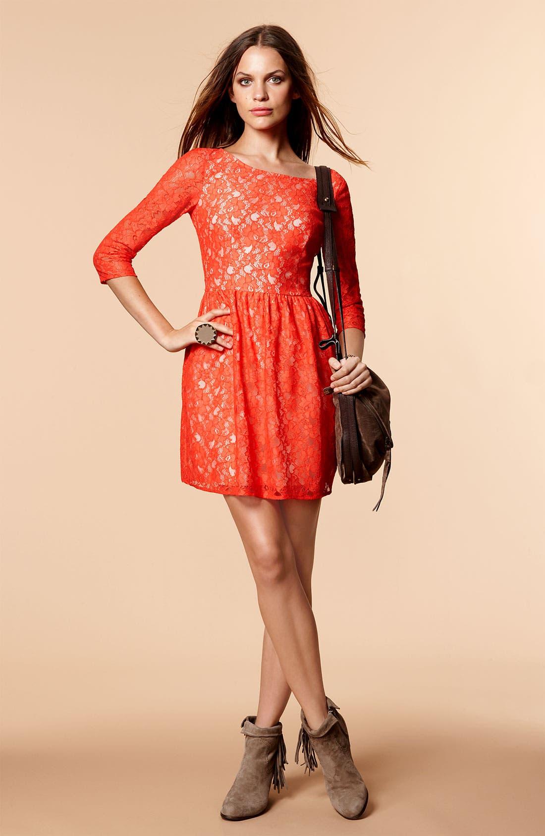 'Lizzie' Lace Dress,                             Alternate thumbnail 4, color,                             503