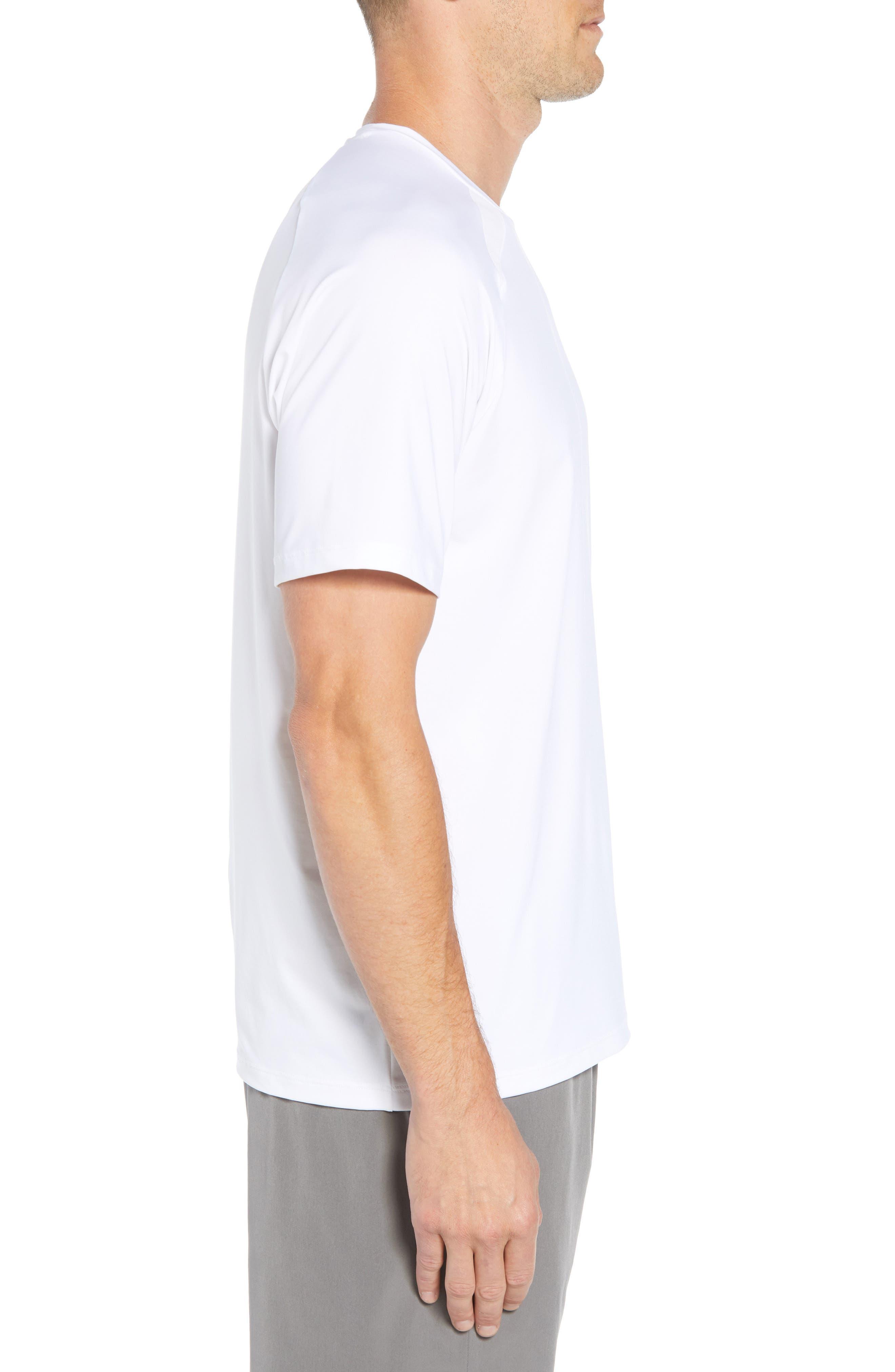 Mesh Inset T-Shirt,                             Alternate thumbnail 3, color,                             WHITE CAP
