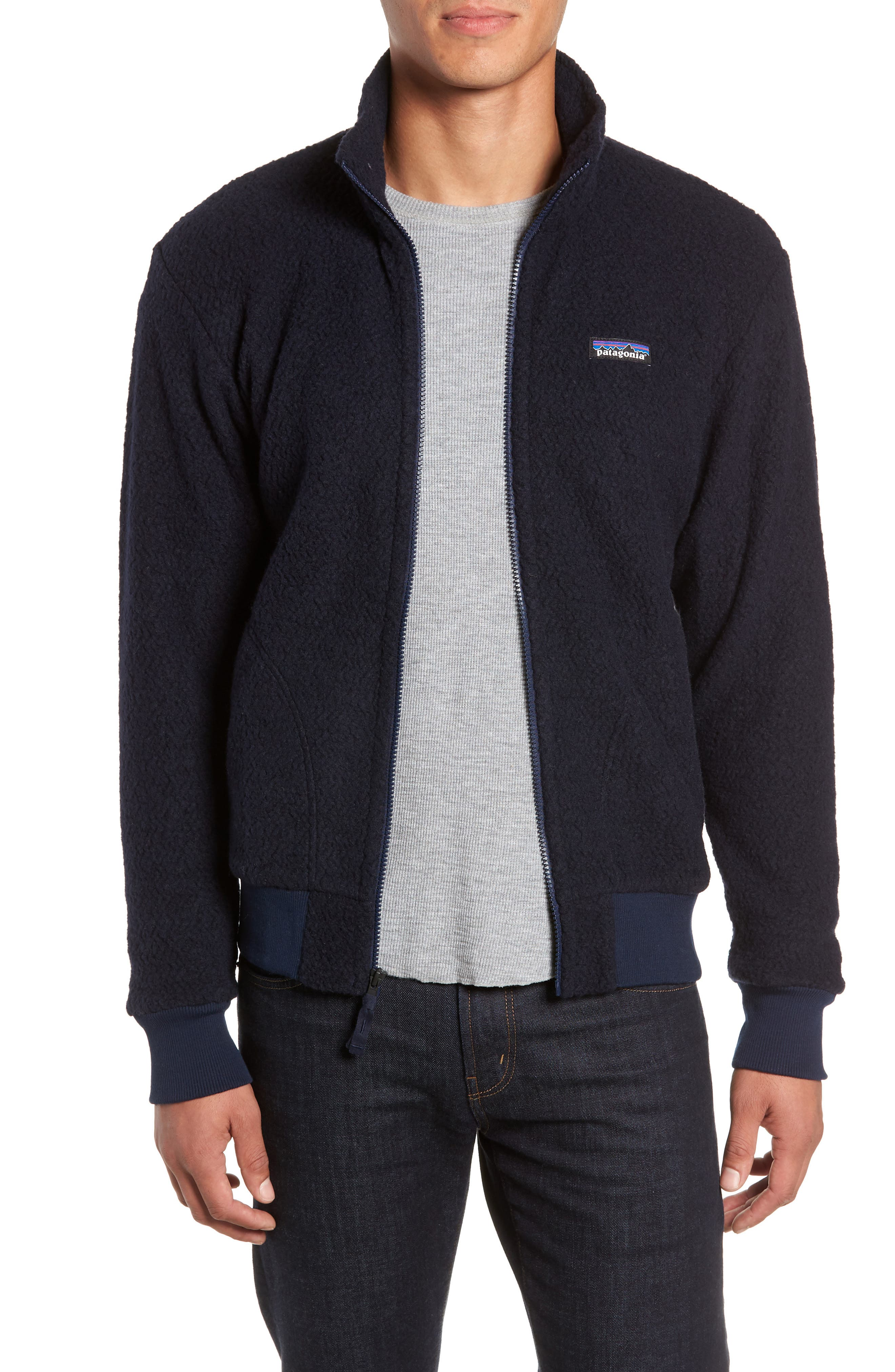 PATAGONIA Woolyester Fleece Jacket in Classic Navy