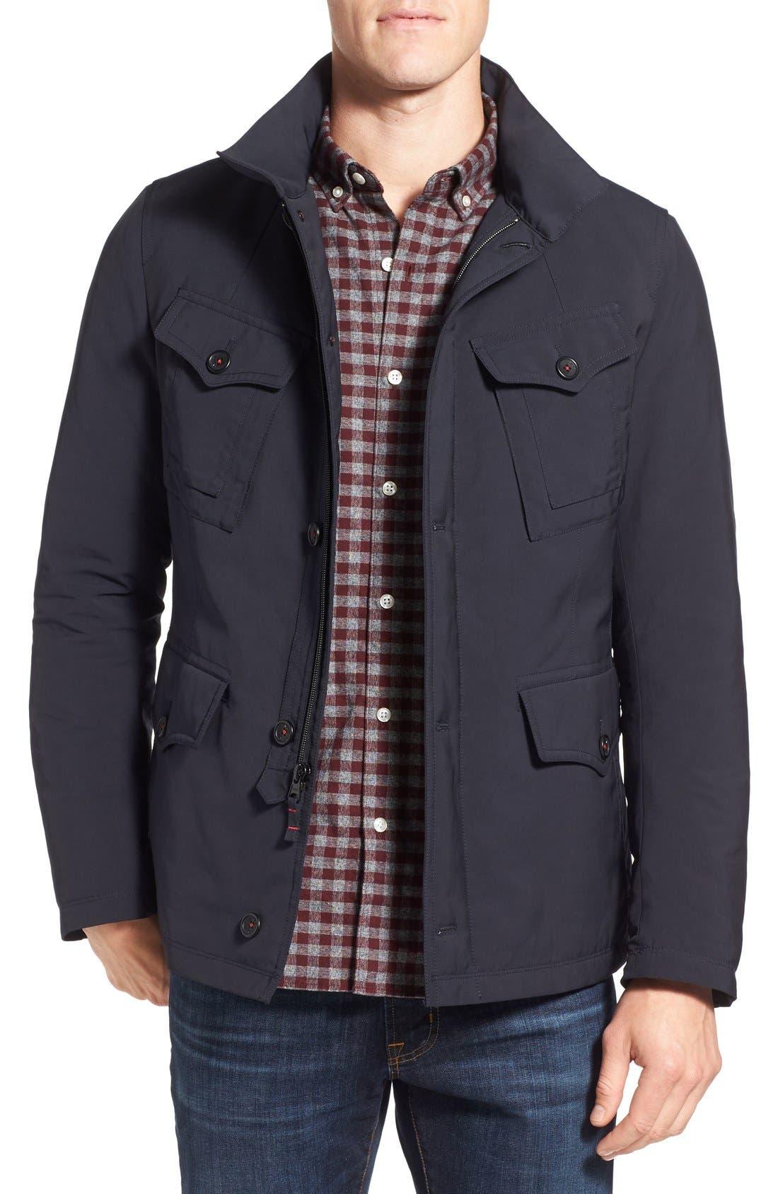 Fashion House Down Military Jacket, Main, color, 029