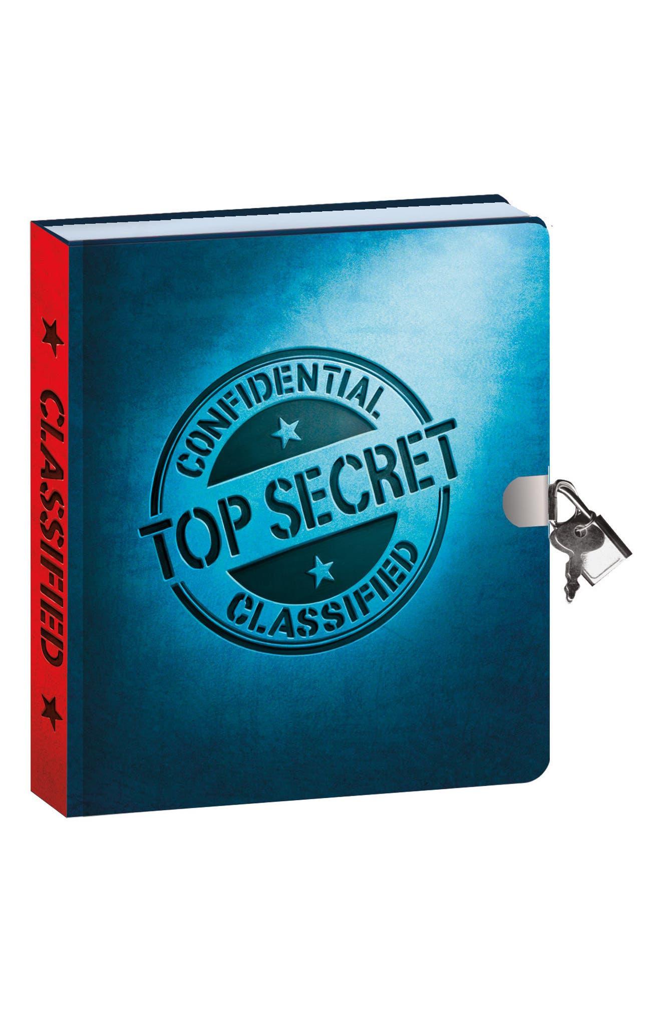 PEACEABLE KINGDOM,                             Peacable Kingdom Top Secret Lock & Key Diary,                             Main thumbnail 1, color,                             400