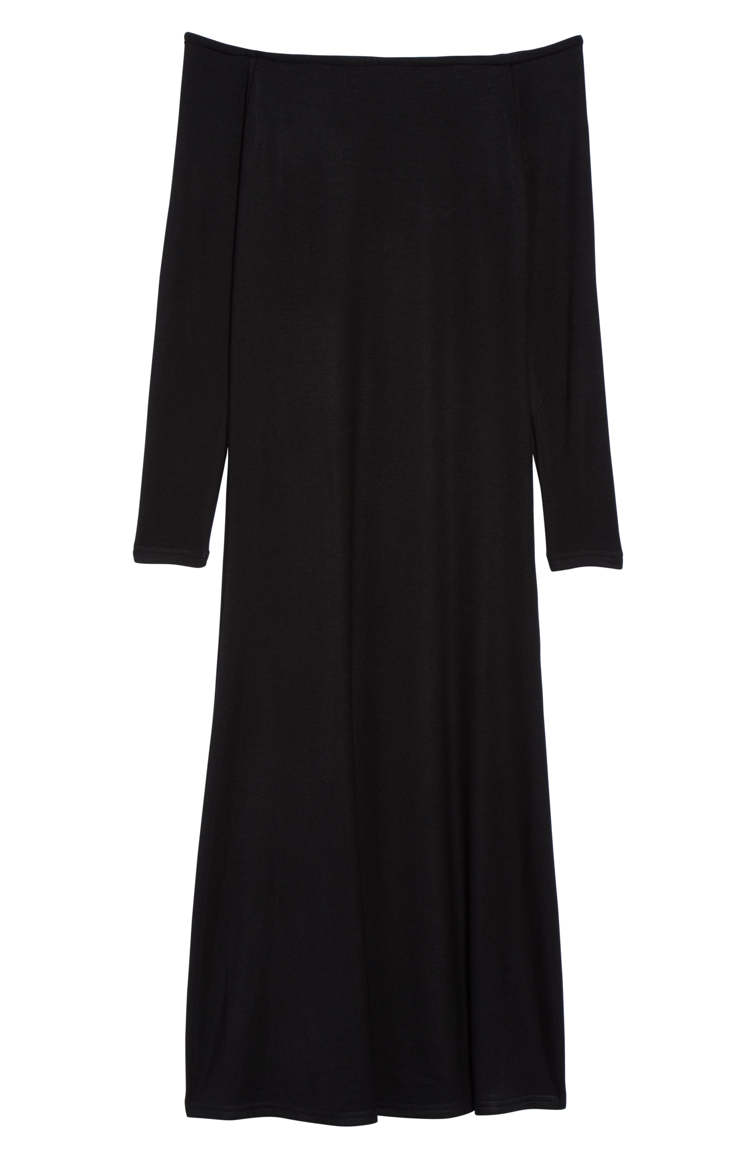 Blair Off the Shoulder A-Line Dress,                             Alternate thumbnail 6, color,                             001