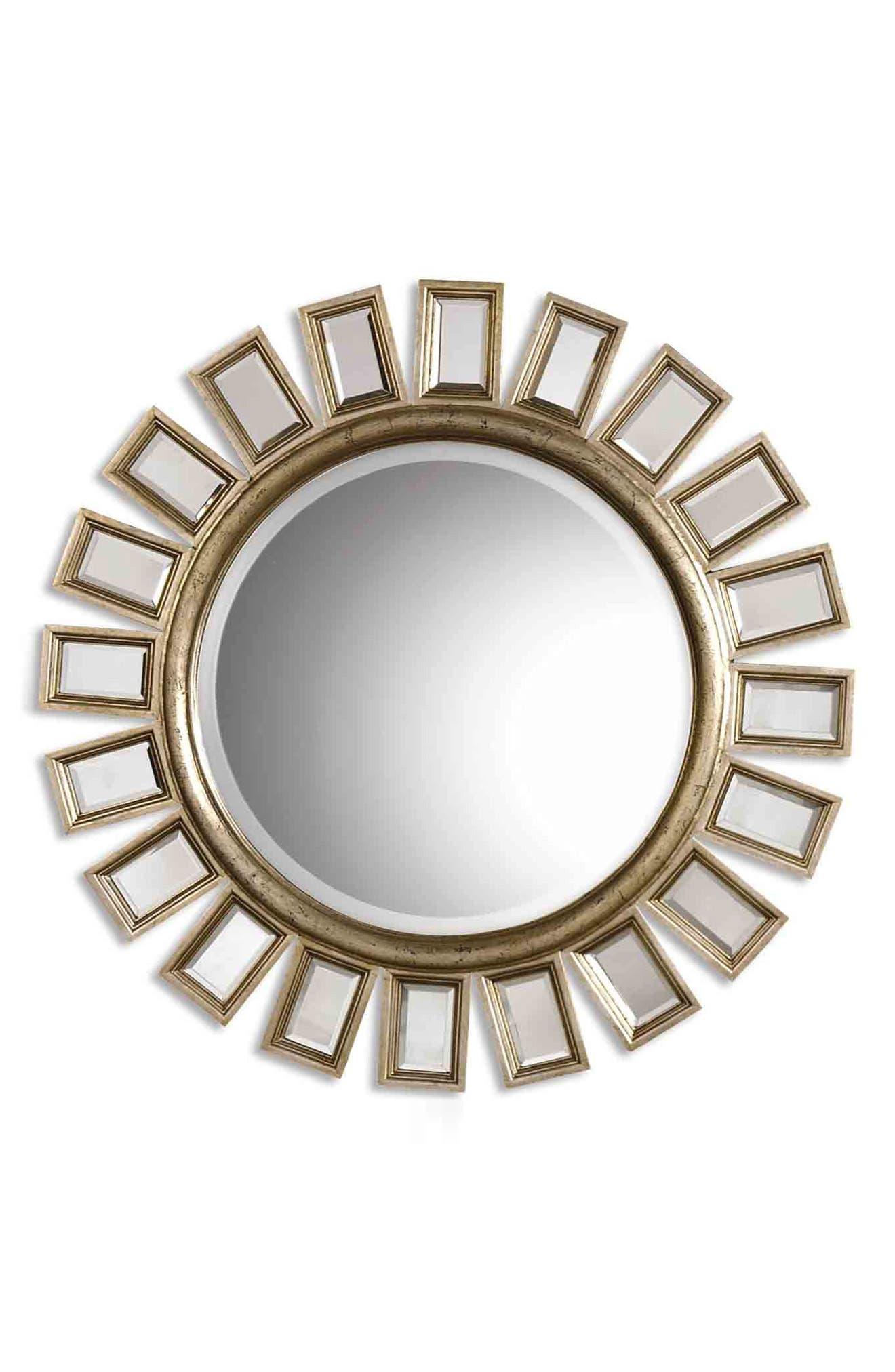 'Cyrus' Round Mirror,                             Alternate thumbnail 3, color,                             020
