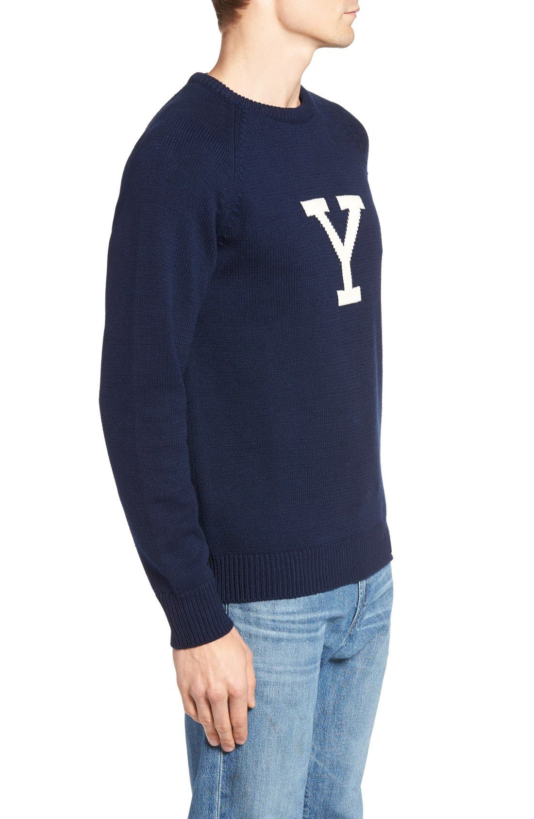 Yale Heritage Sweater,                             Alternate thumbnail 3, color,                             400