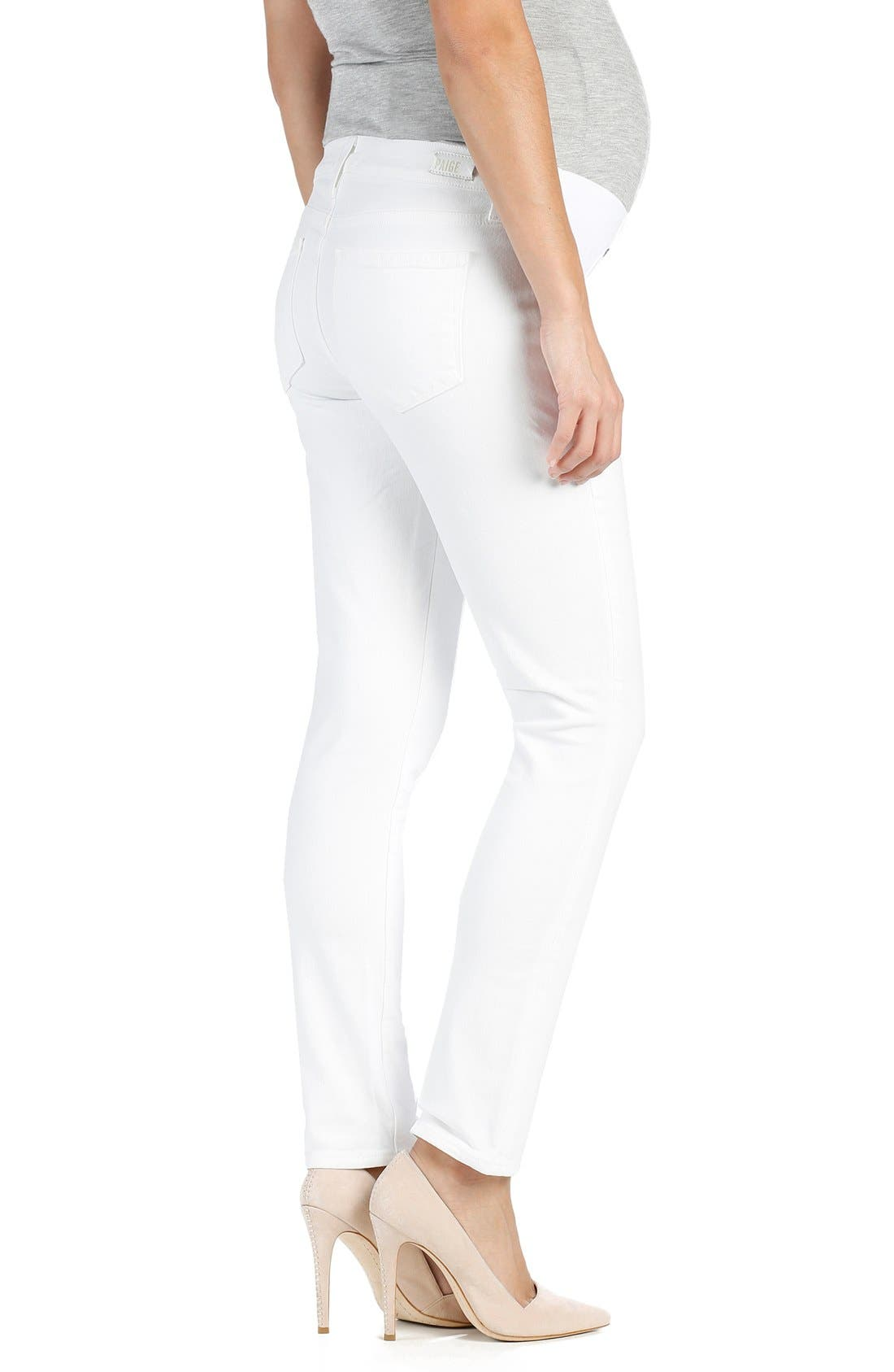 PAIGE,                             'Skyline' Ankle Peg Skinny Maternity Jeans,                             Alternate thumbnail 2, color,                             101
