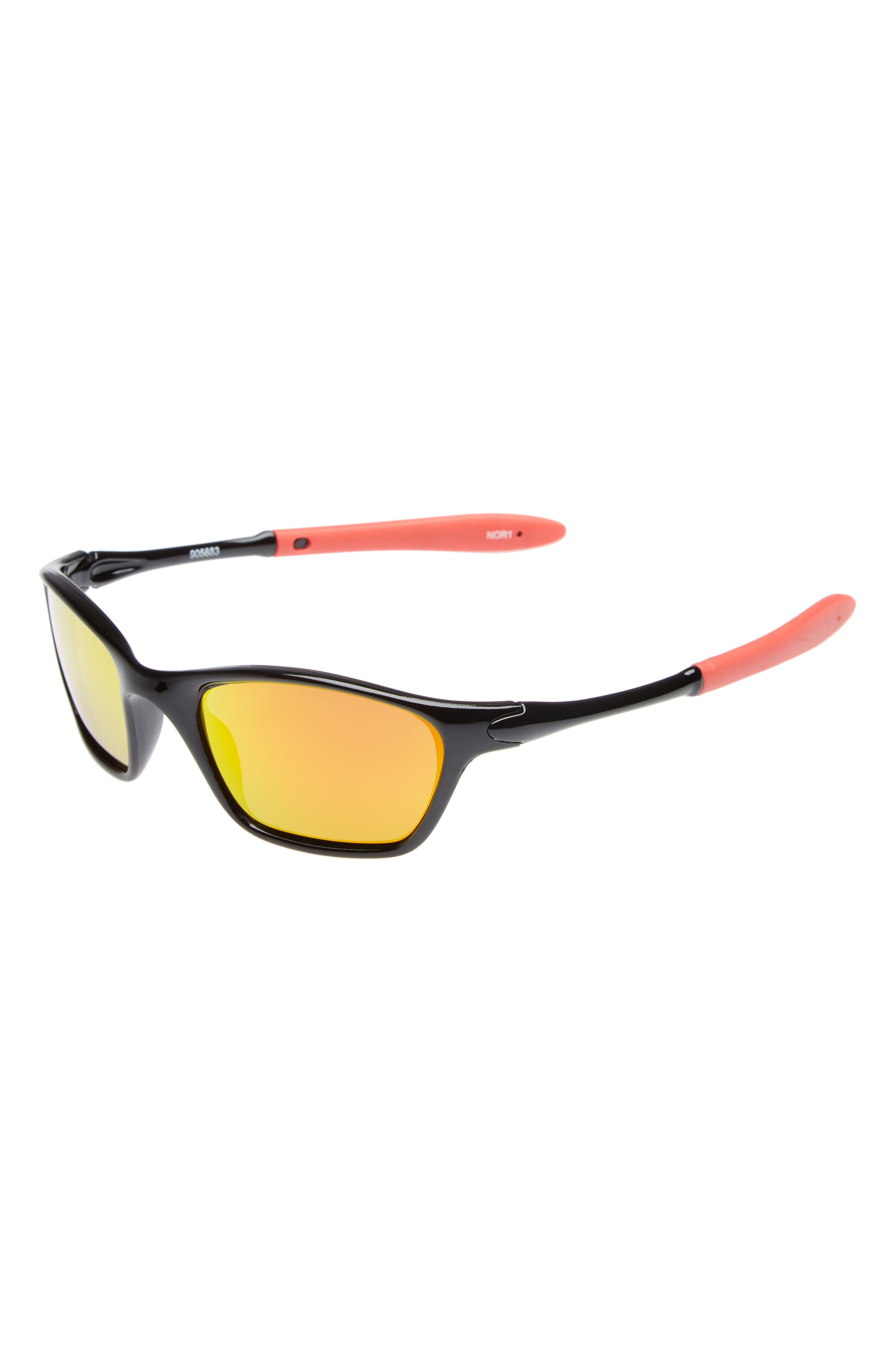 50mm Rubber Sport Sunglasses,                             Main thumbnail 1, color,