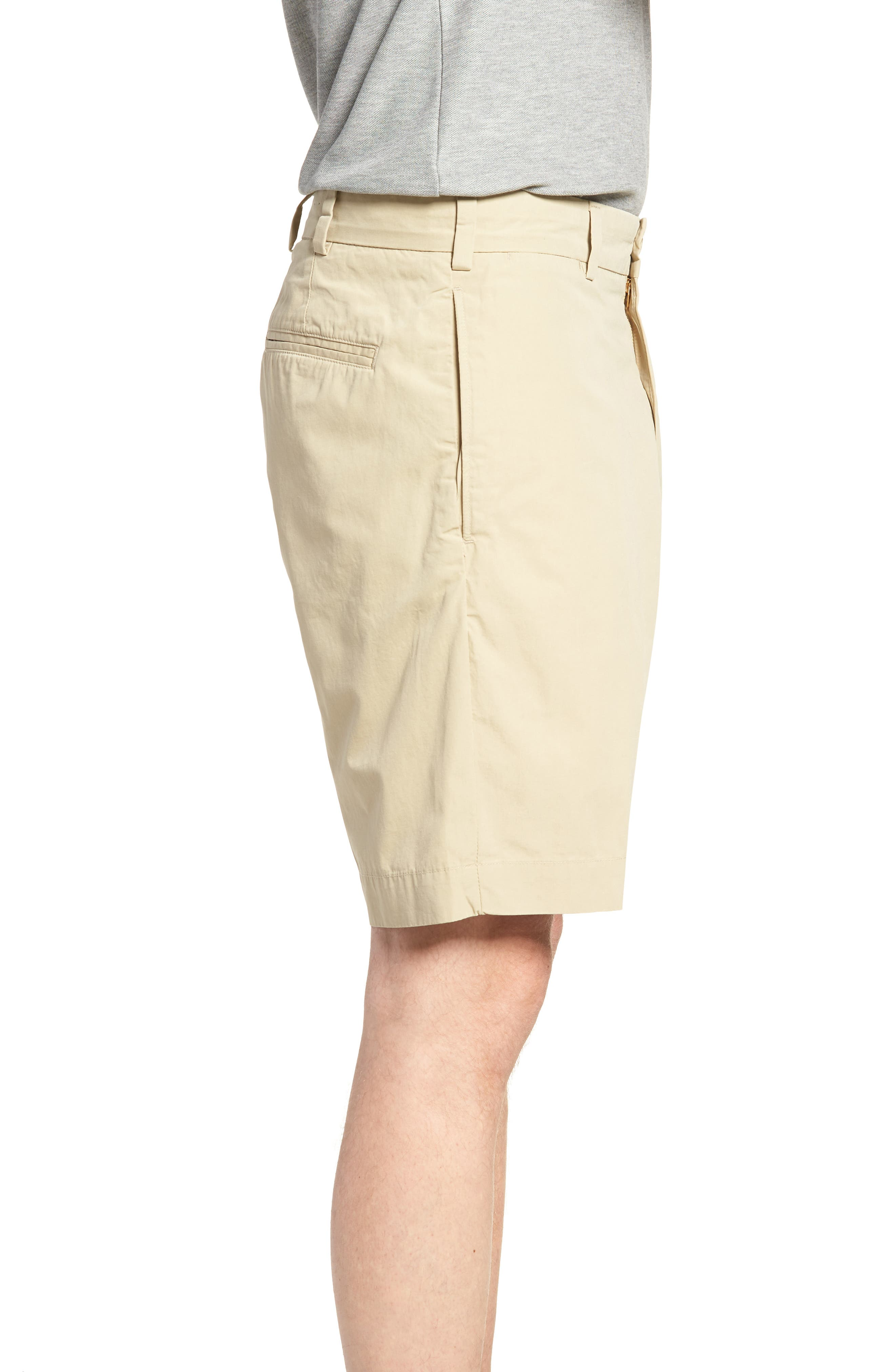 M2 Classic Fit Flat Front Tropical Cotton Poplin Shorts,                             Alternate thumbnail 3, color,                             KHAKI