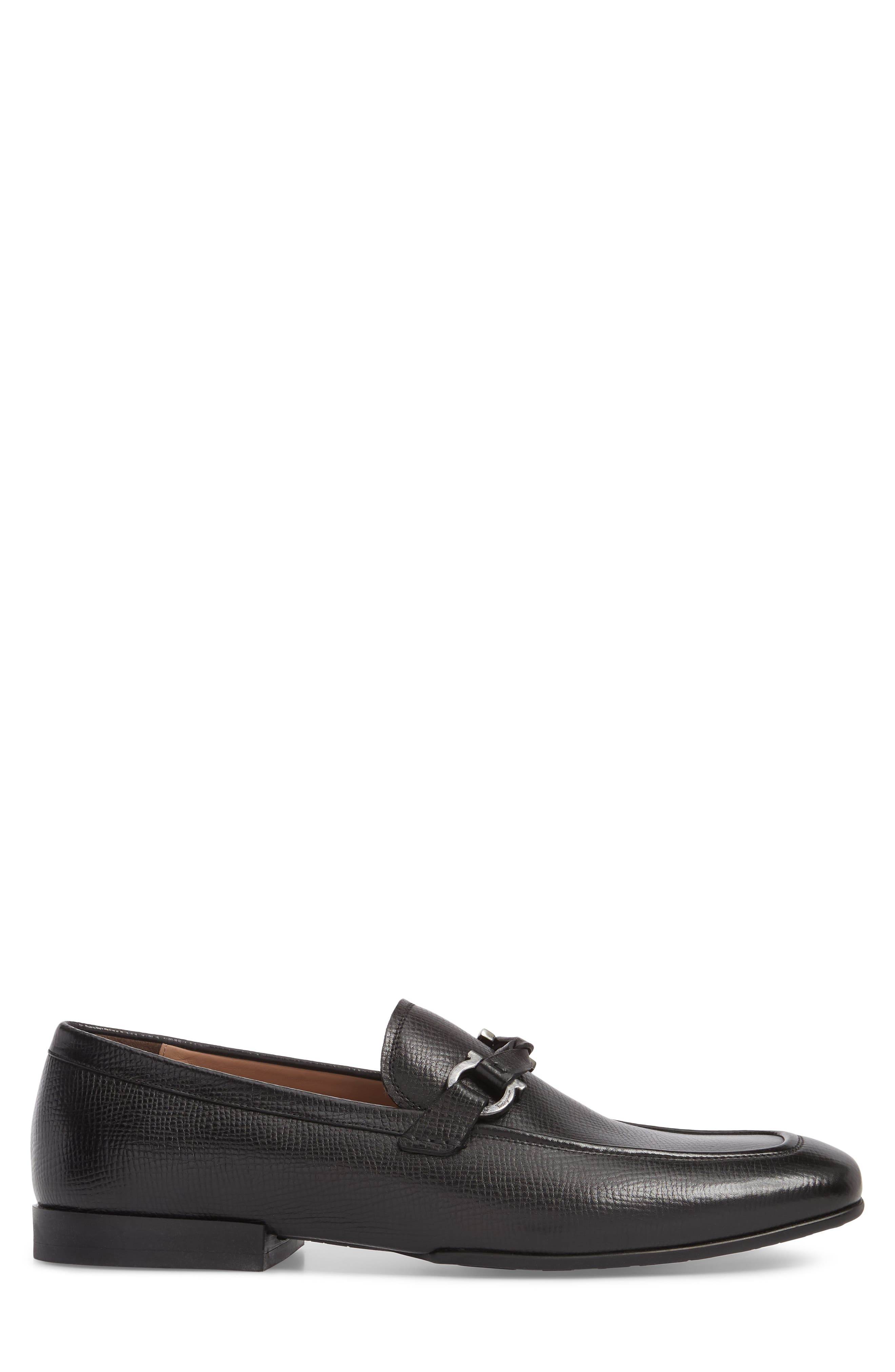 Barry Looped Bit Loafer,                             Alternate thumbnail 3, color,                             NERO LEATHER