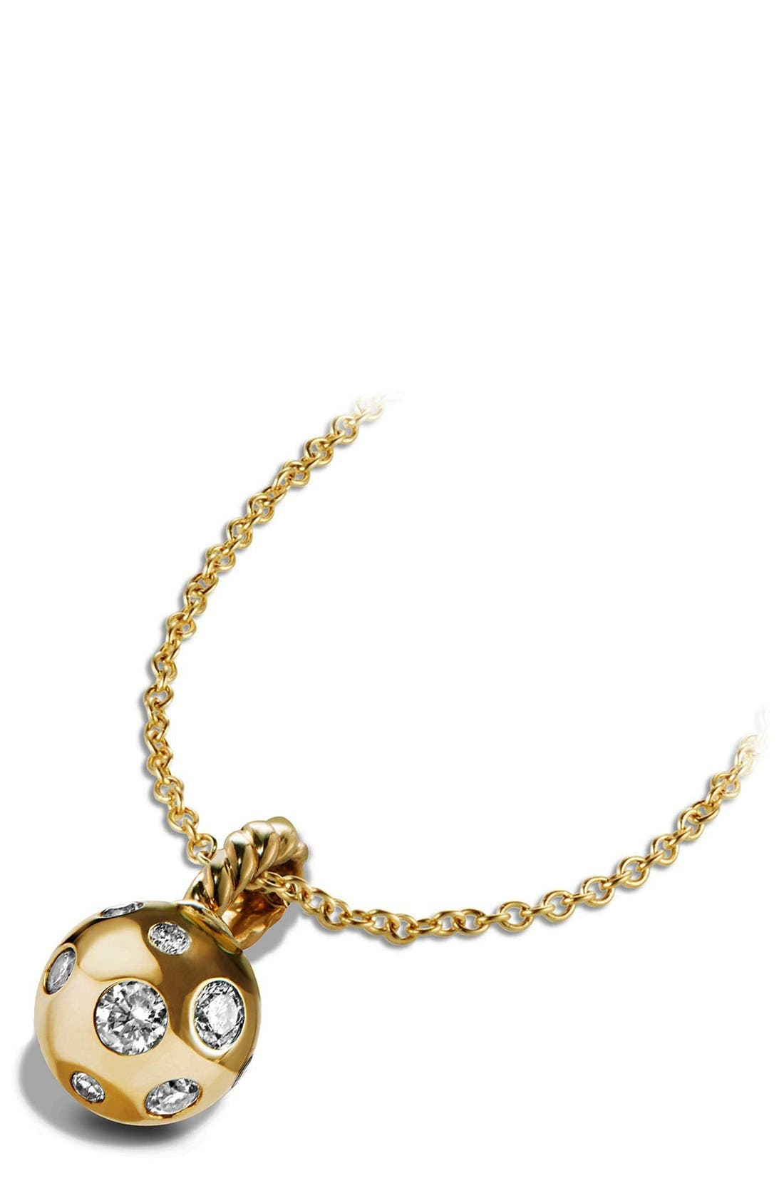Pendant with Diamonds in 18K Gold,                             Alternate thumbnail 4, color,                             GOLD