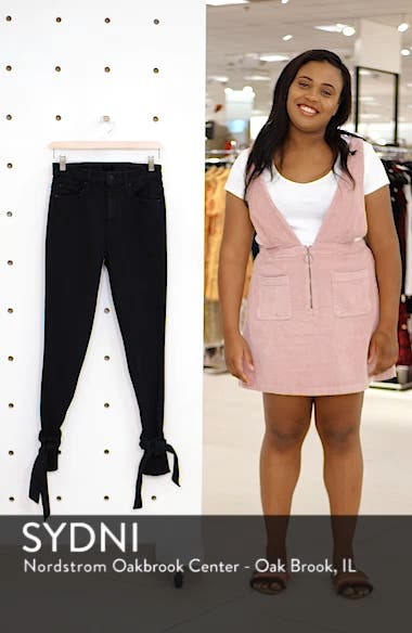The Looker High Waist Bow Ankle Skinny Jeans, sales video thumbnail