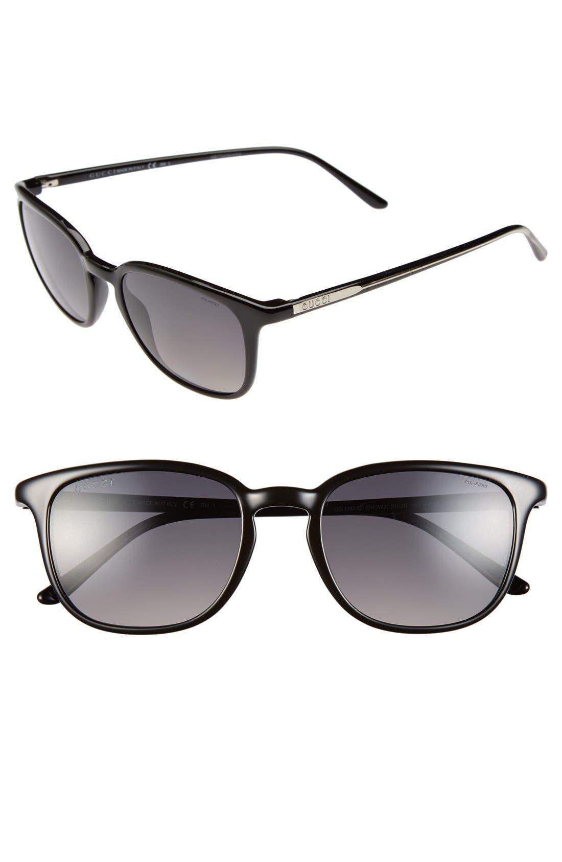 '1067S' 51mm Sunglasses,                         Main,                         color, 001