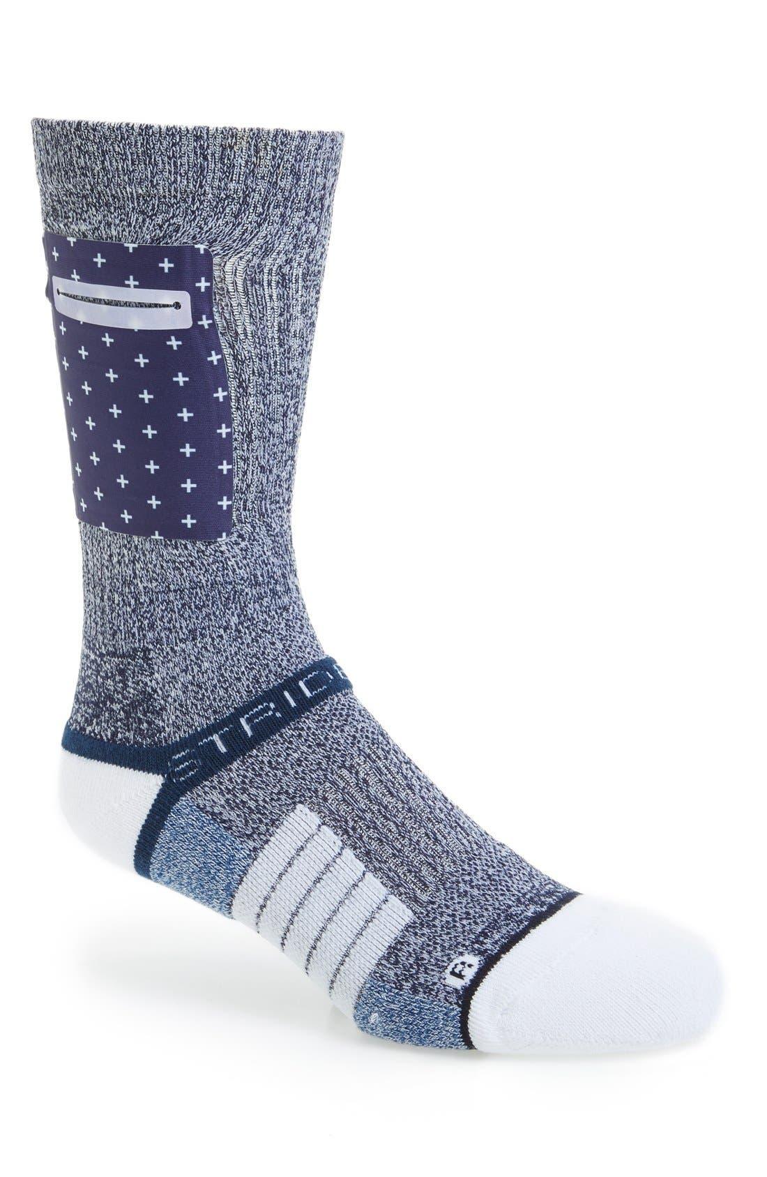 x Nate Robinson 'Pocket Sock - Portside' Strapped Fit 2.0 Socks, Main, color, 020