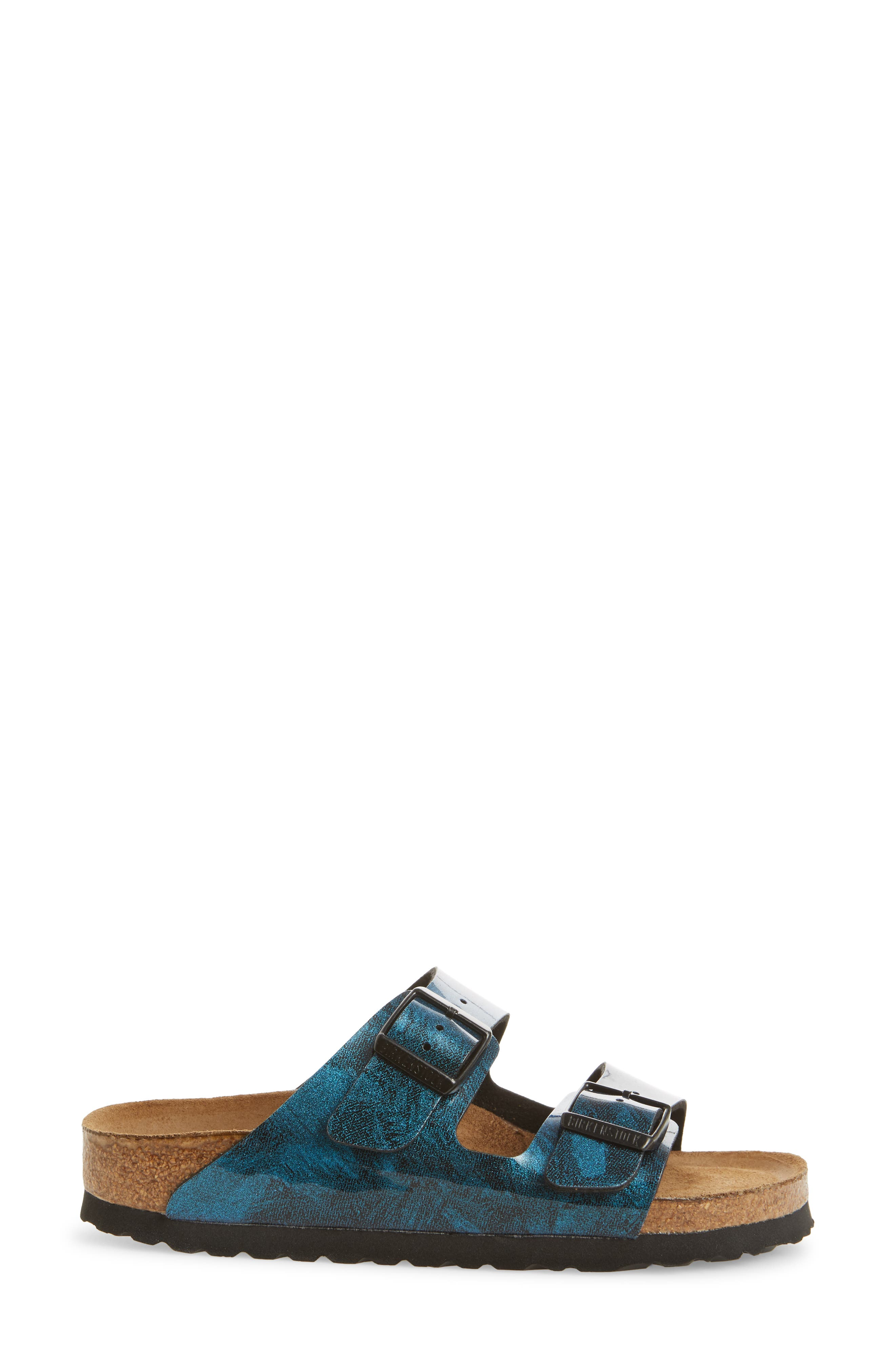 Arizona Birko-Flor Soft Footbed Sandal,                             Alternate thumbnail 3, color,                             MILKY WAY BLUE